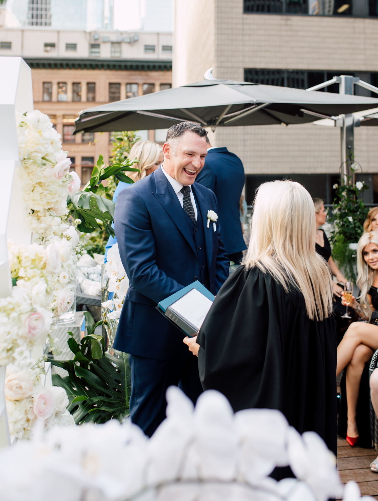 summer rooftop wedding