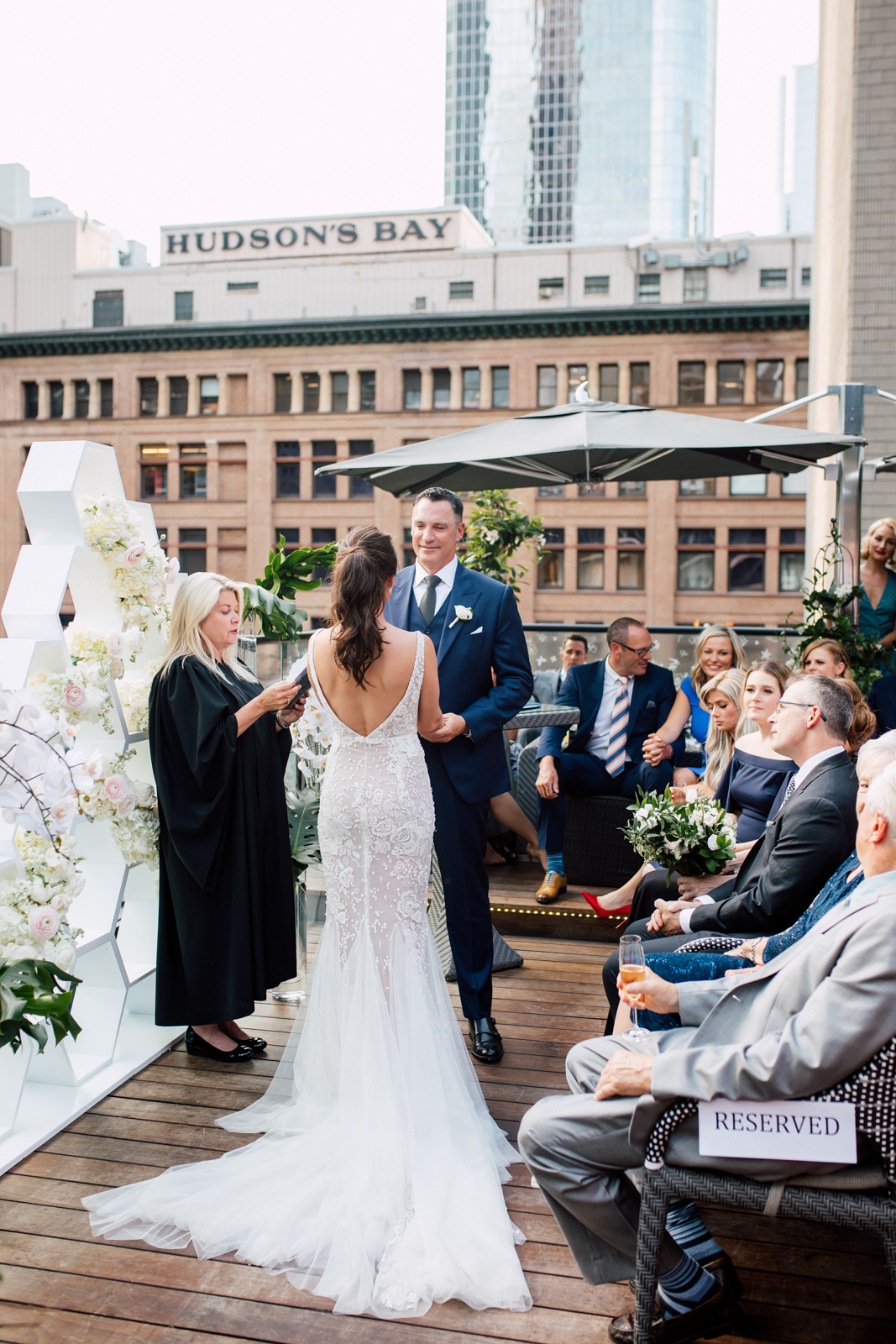 summer toronto rooftop wedding