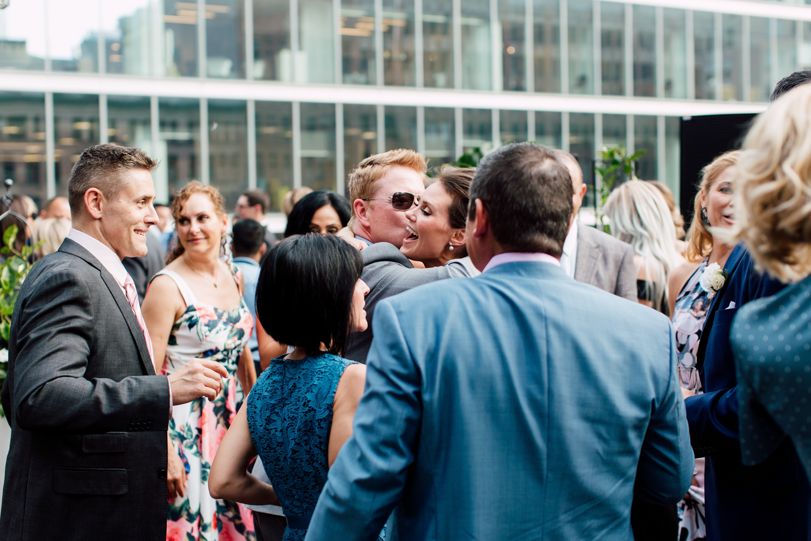rooftop wedding celebration
