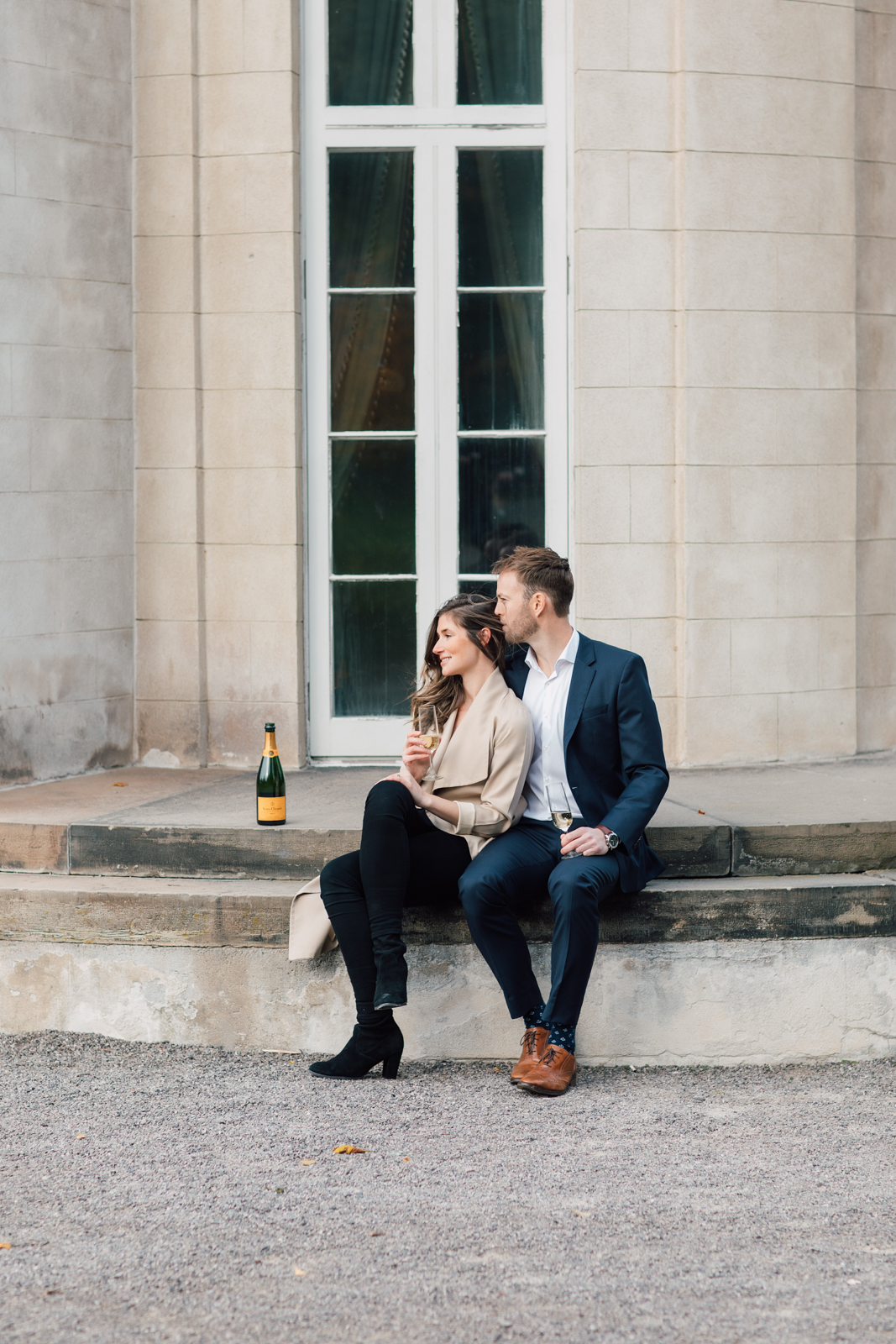 neutral champagne engagement