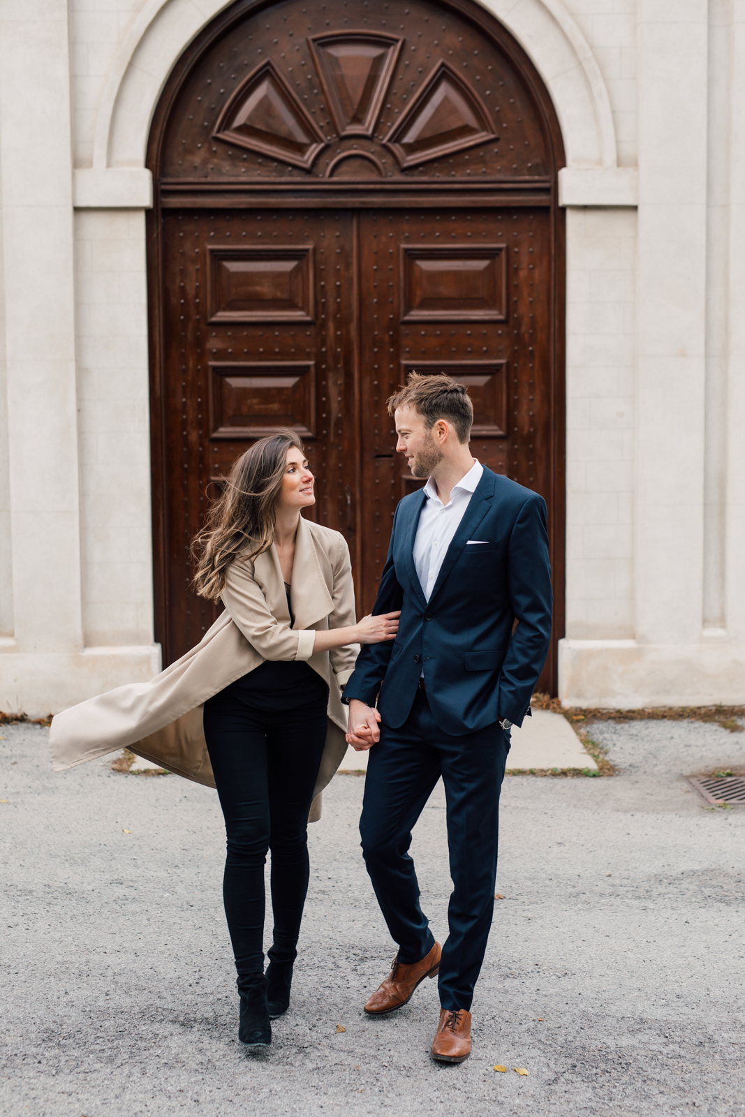 castle engagement photography