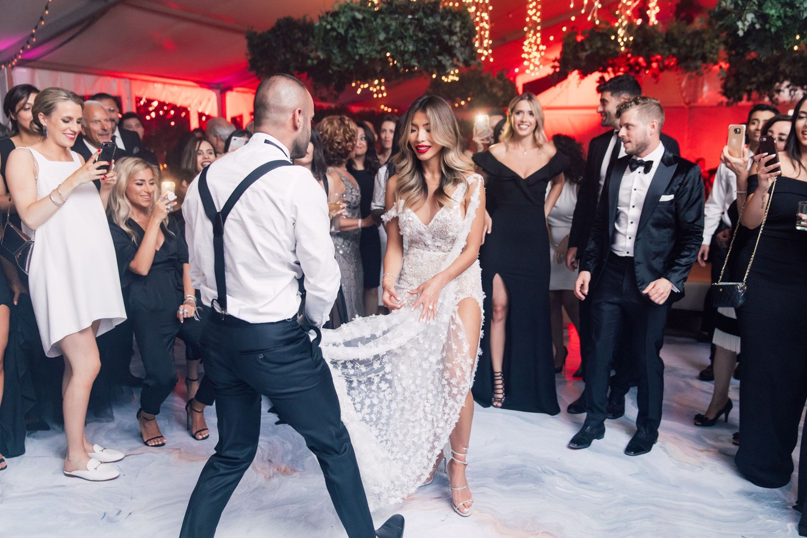 Flowing dress wedding