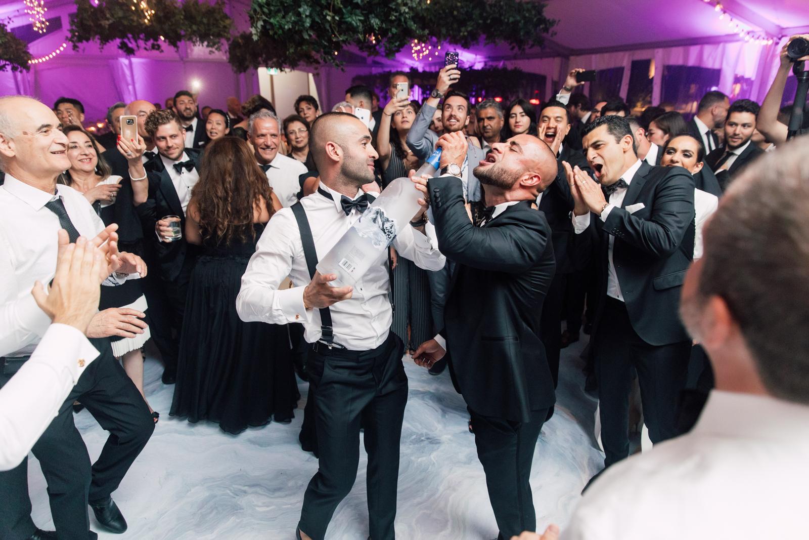 Wedding reception drinking
