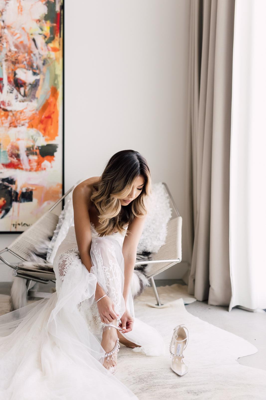 Bride morning of