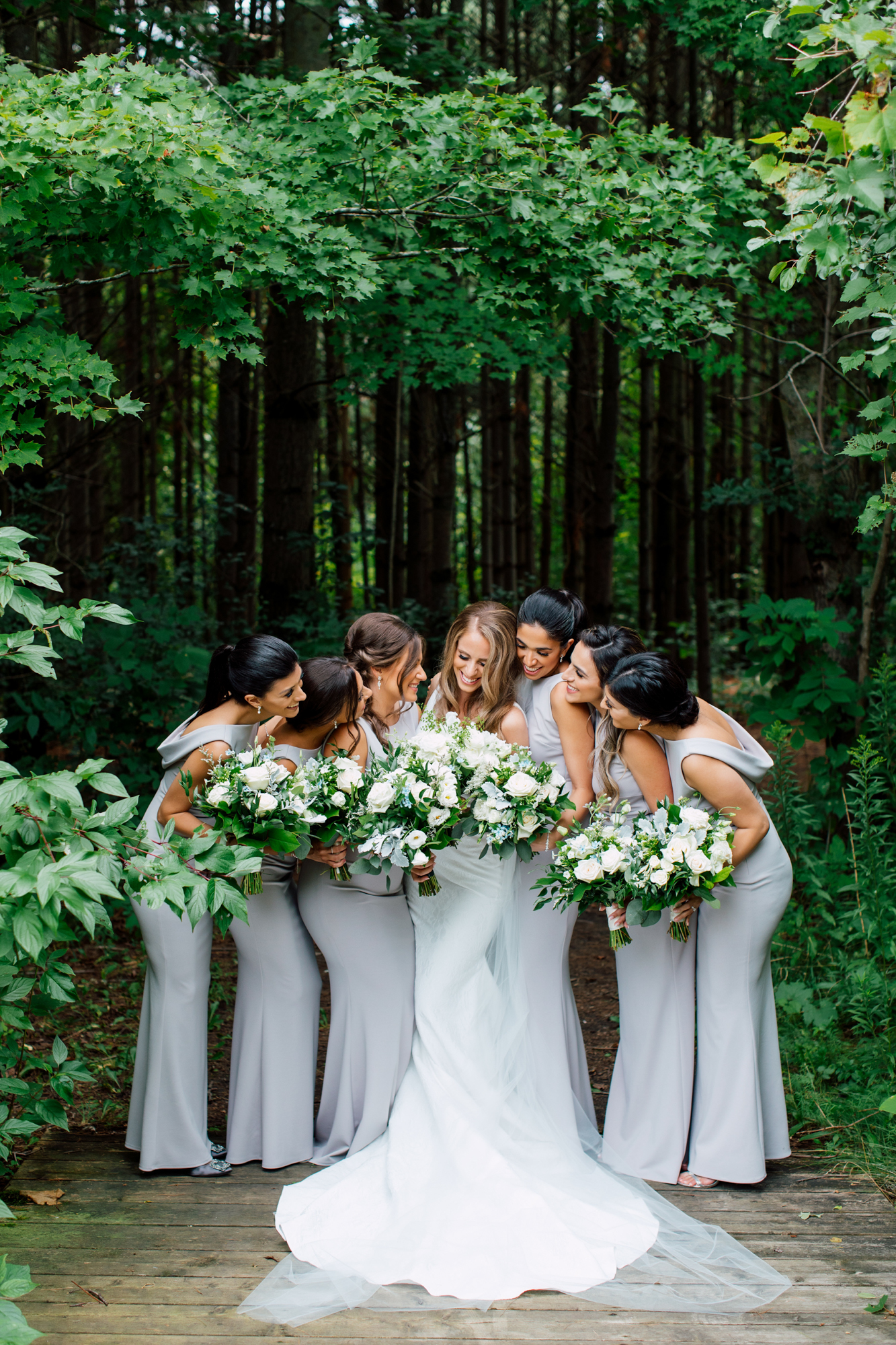covers couture bridesmaids bouquet