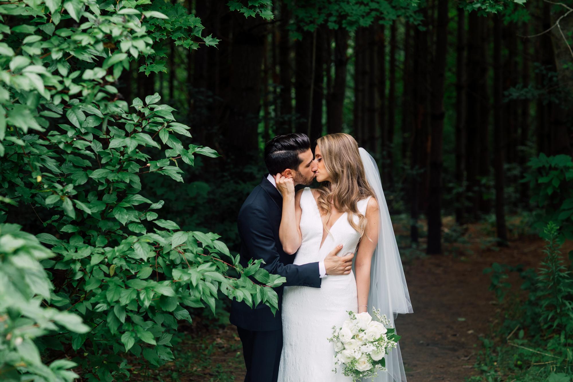 forest wedding portraits
