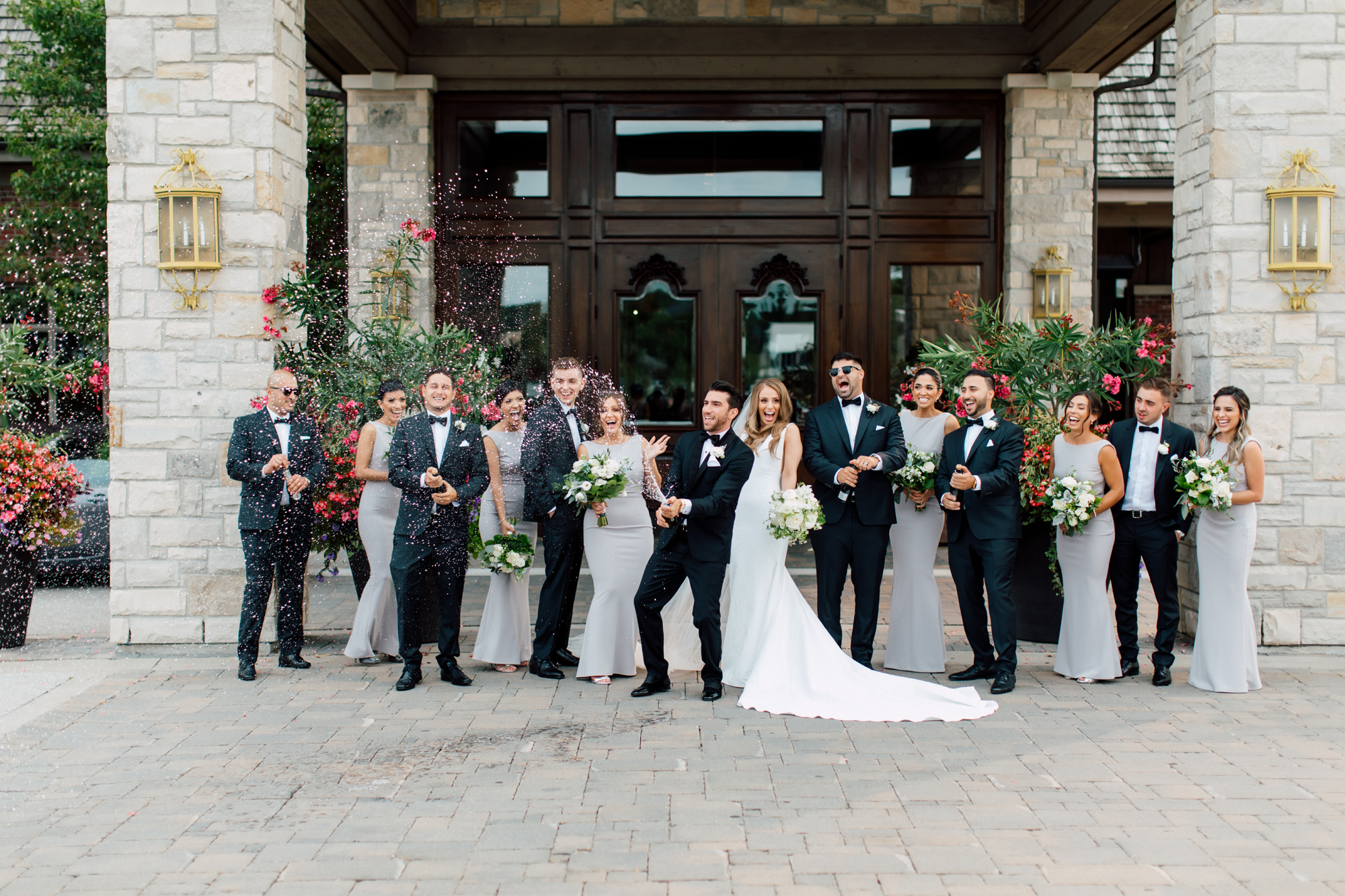 eagles nest candid bridal party