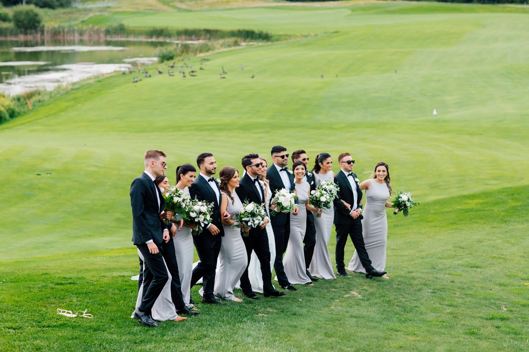 golf course bridal party