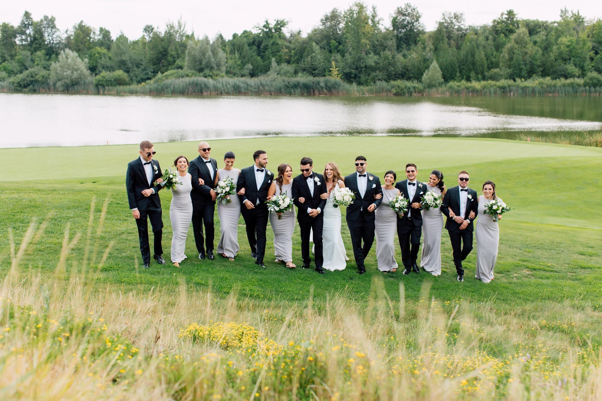 golf course wedding photography