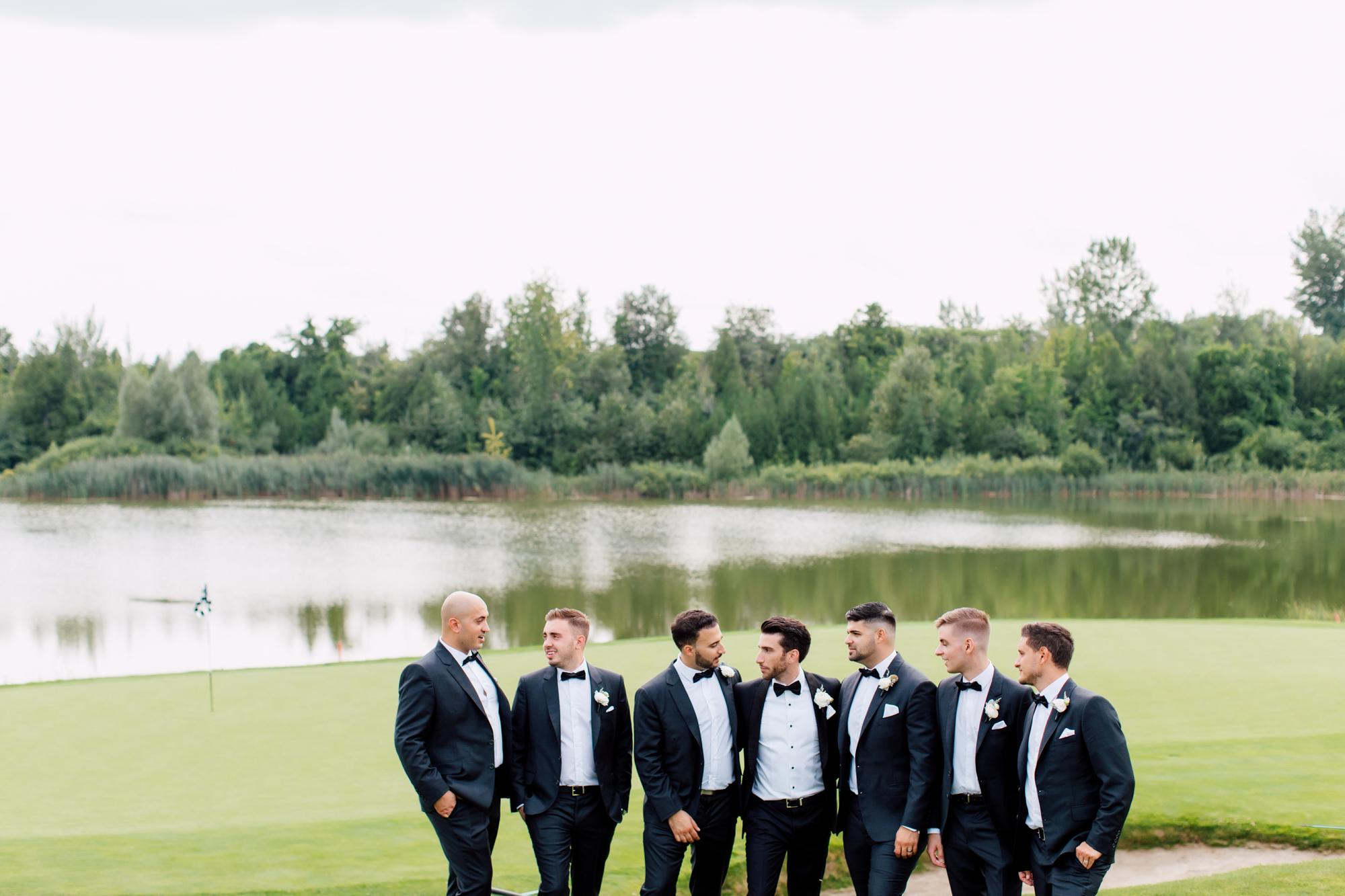golf course groomsmen