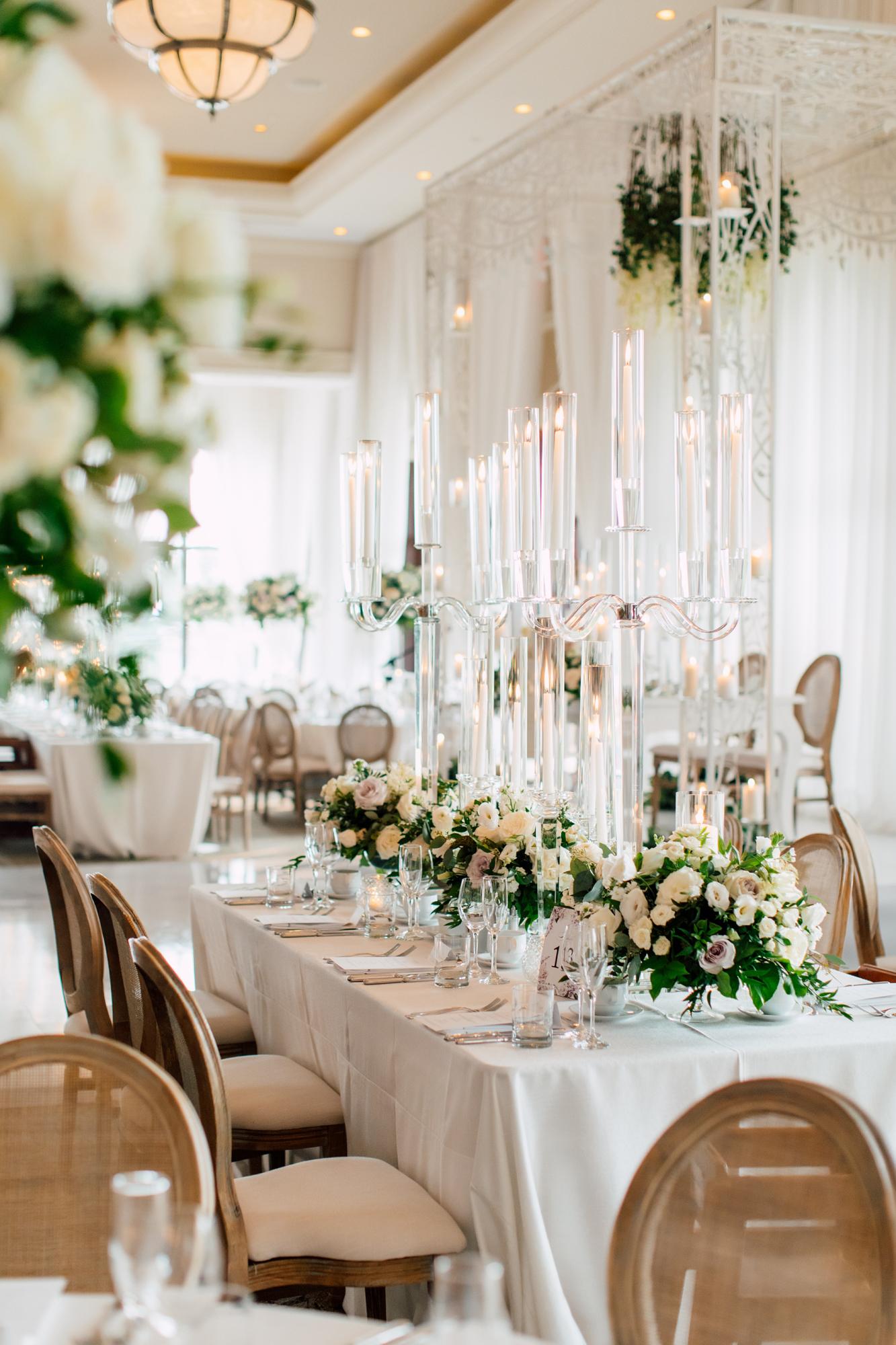 lucite candelabra wedding
