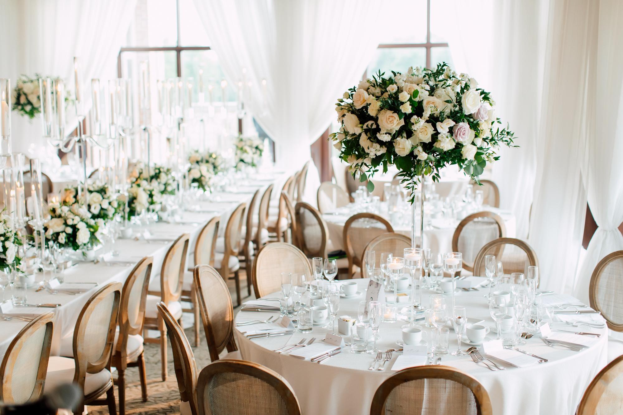 covers couture flower arrangement wedding