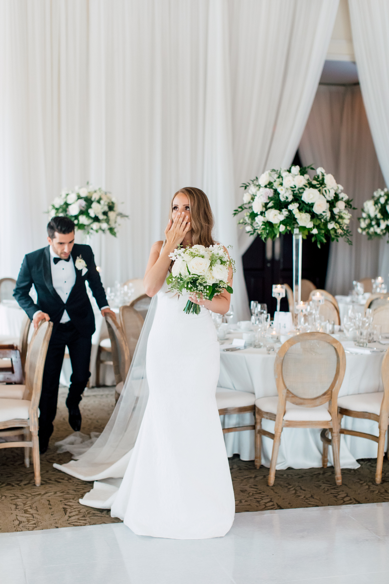 bride in awe wedding
