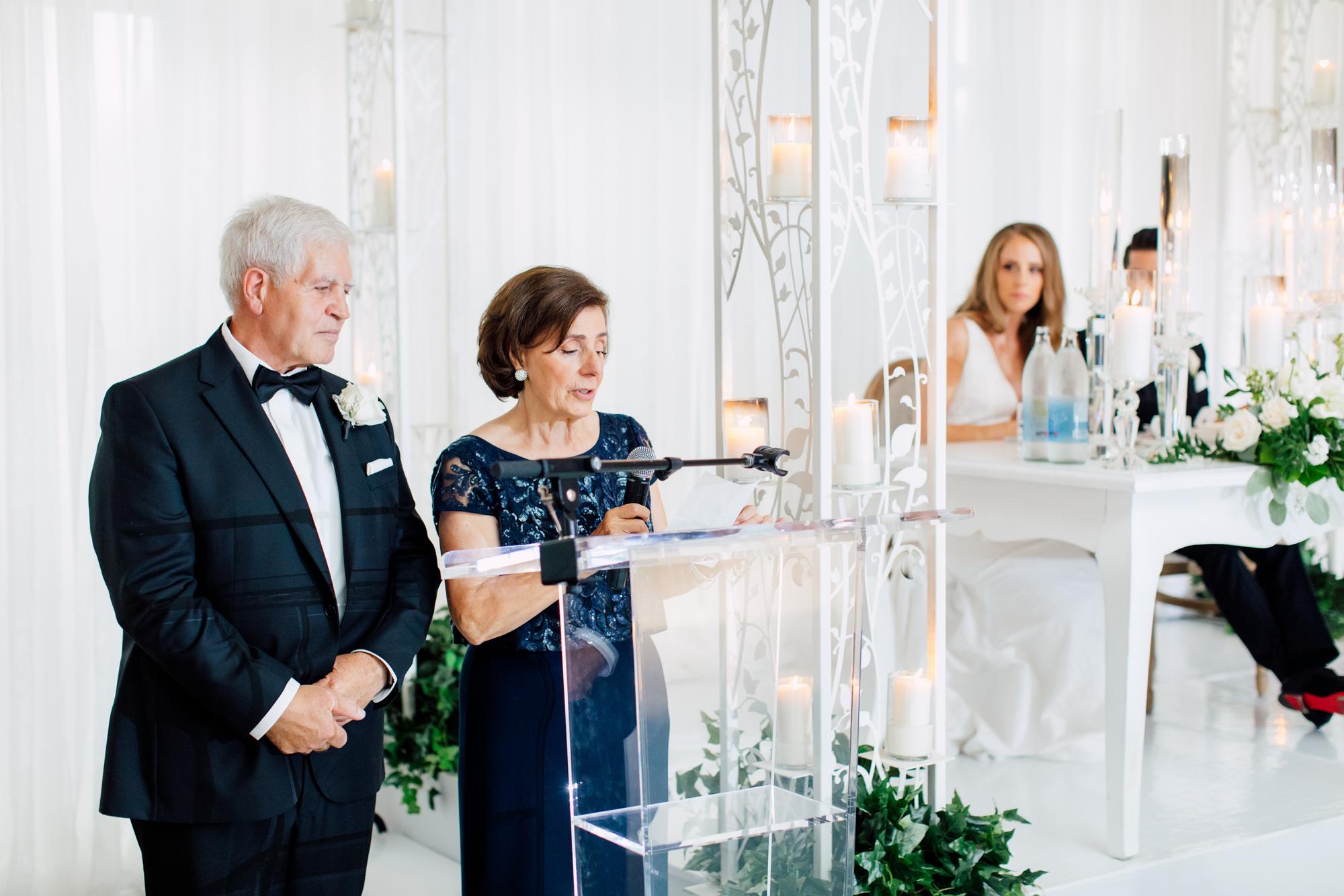 wedding reception parent speech
