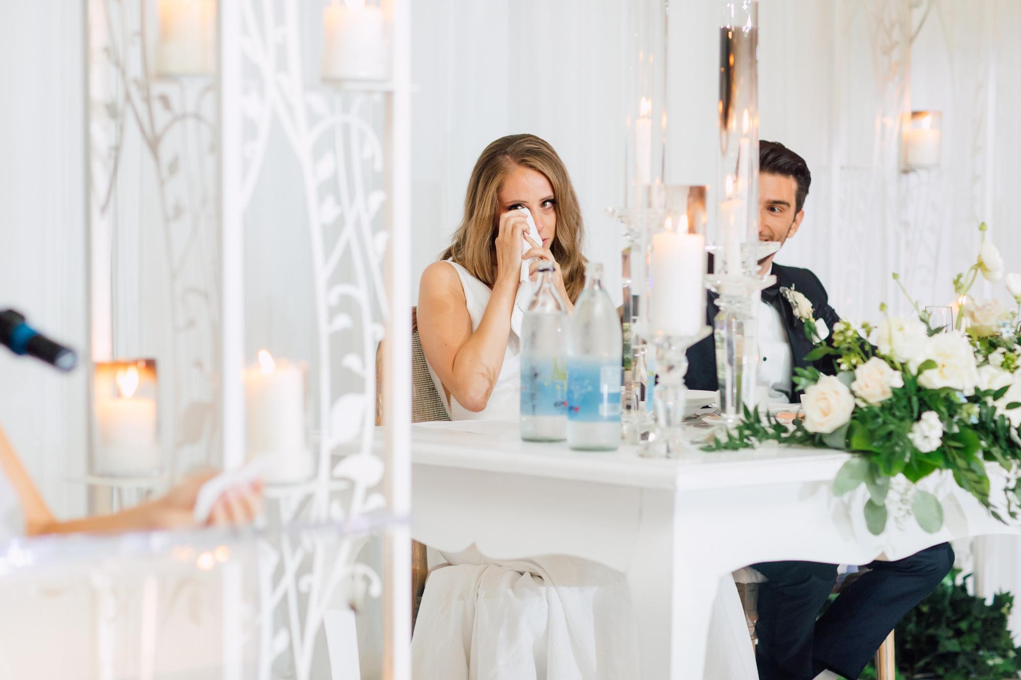 emotional bride speech