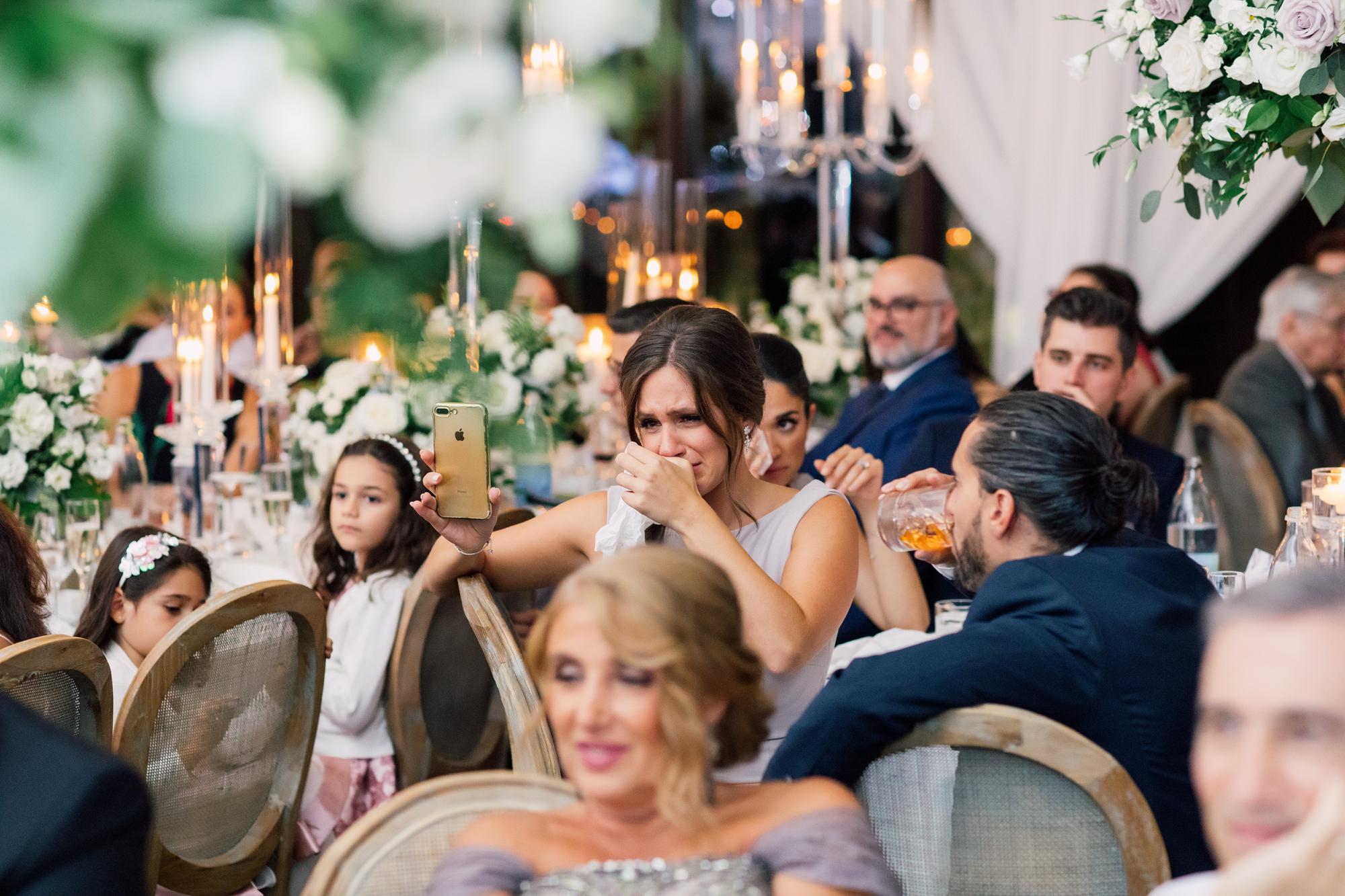 crying wedding guest speech