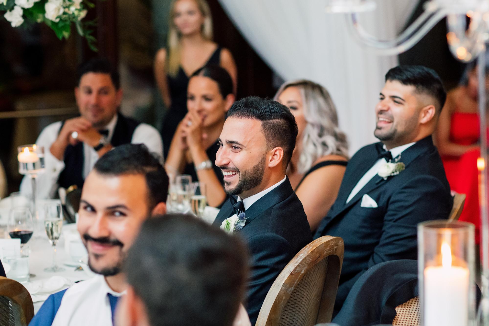 candid wedding guests