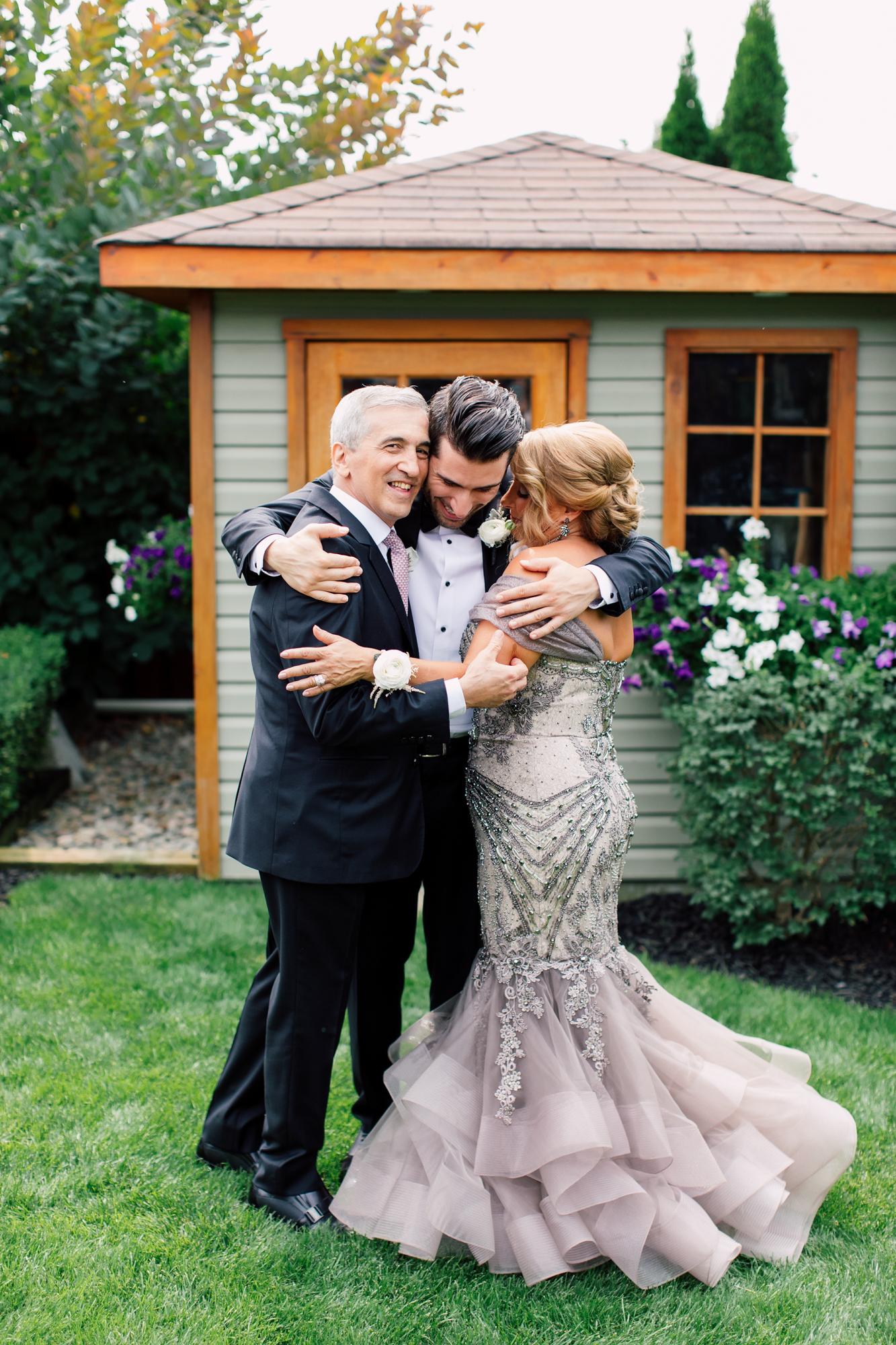 groom's family before wedding