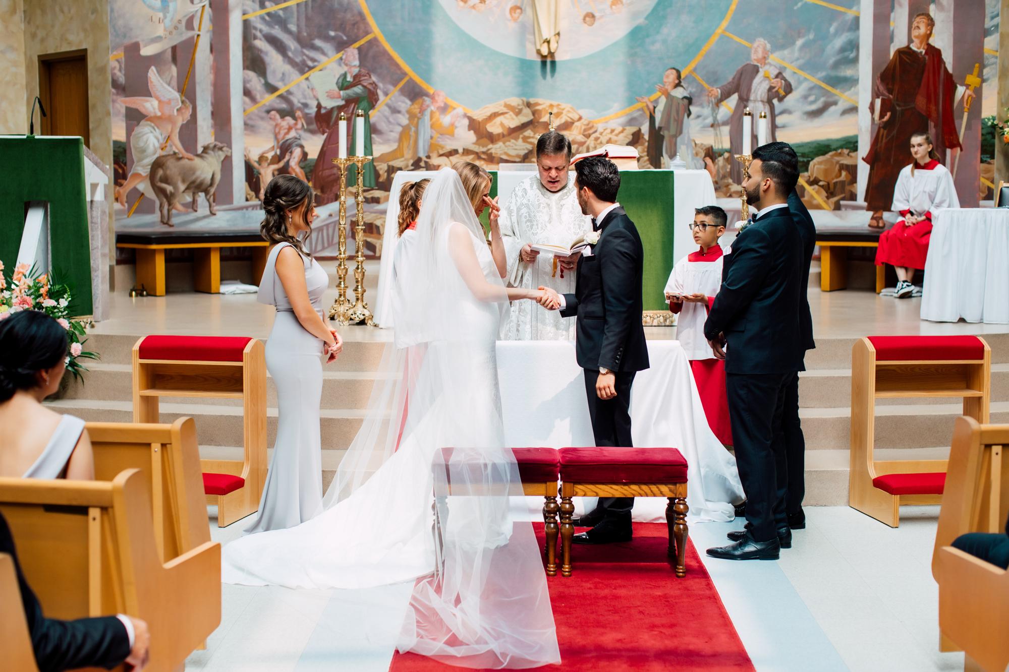 st. david's parish wedding ceremony