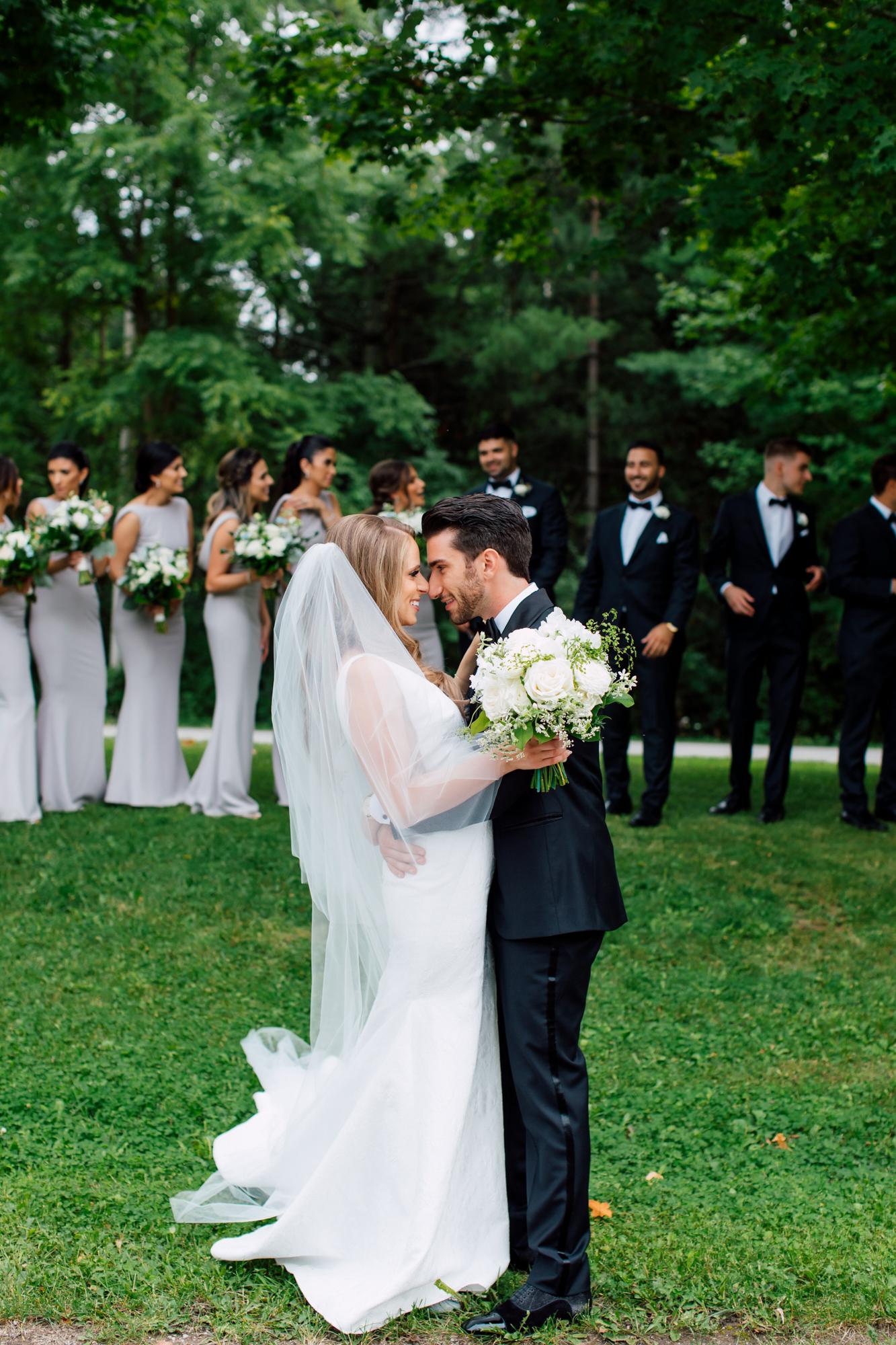 elegant bridal party