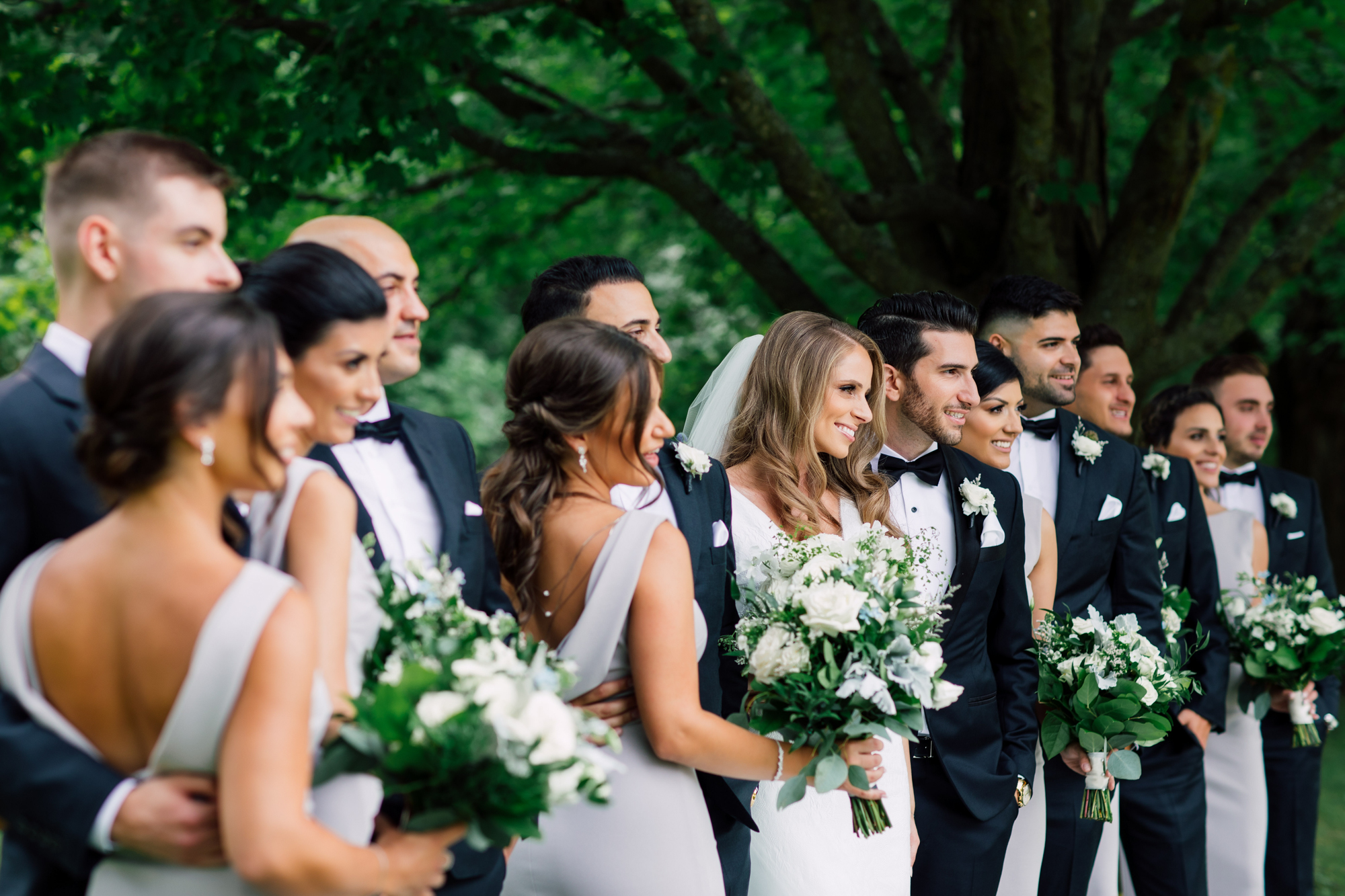 romantic bridal party