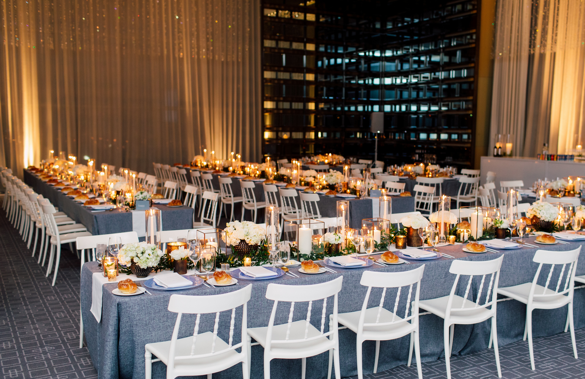 challah wedding place setting