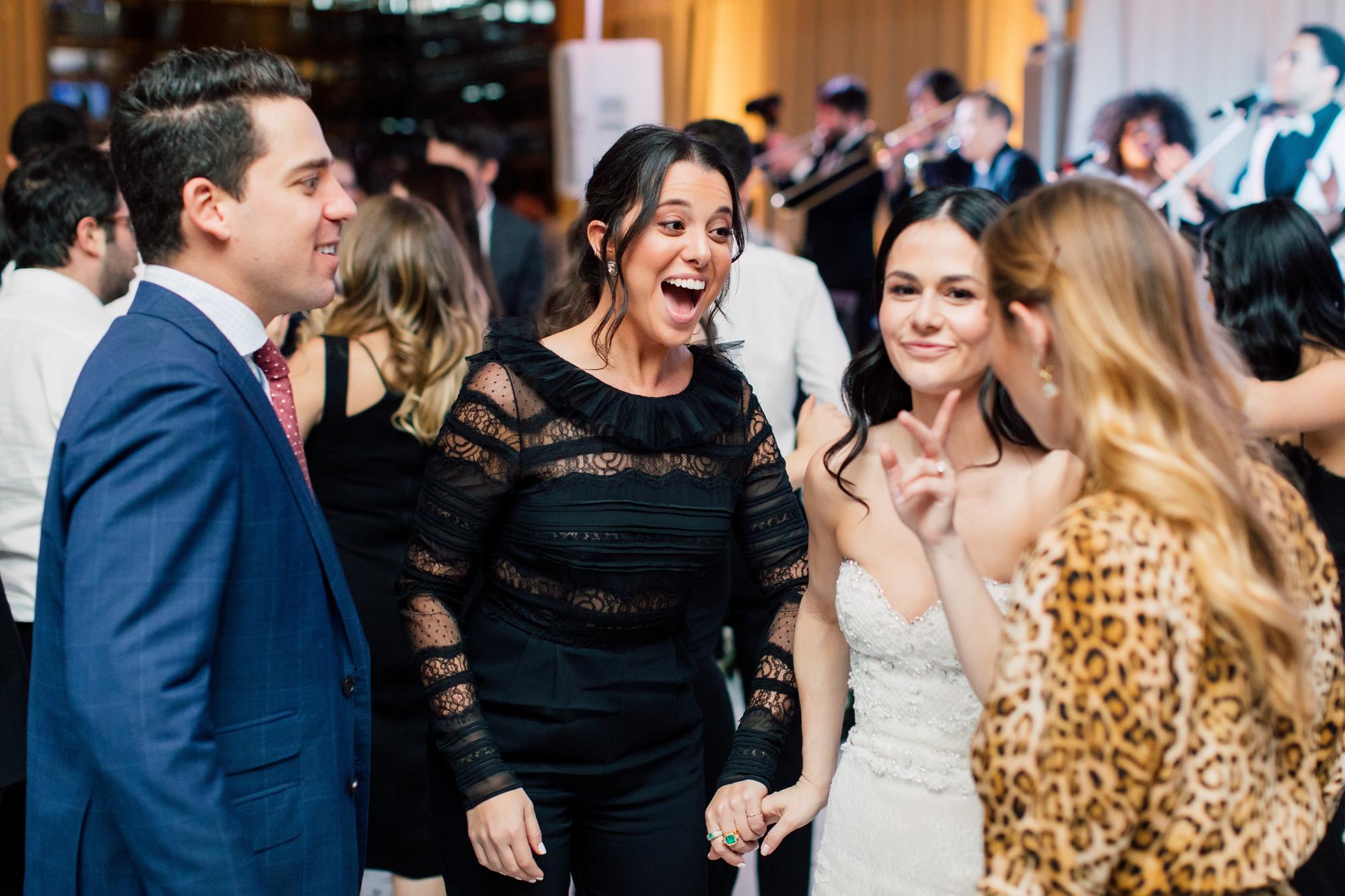 wedding guests reception