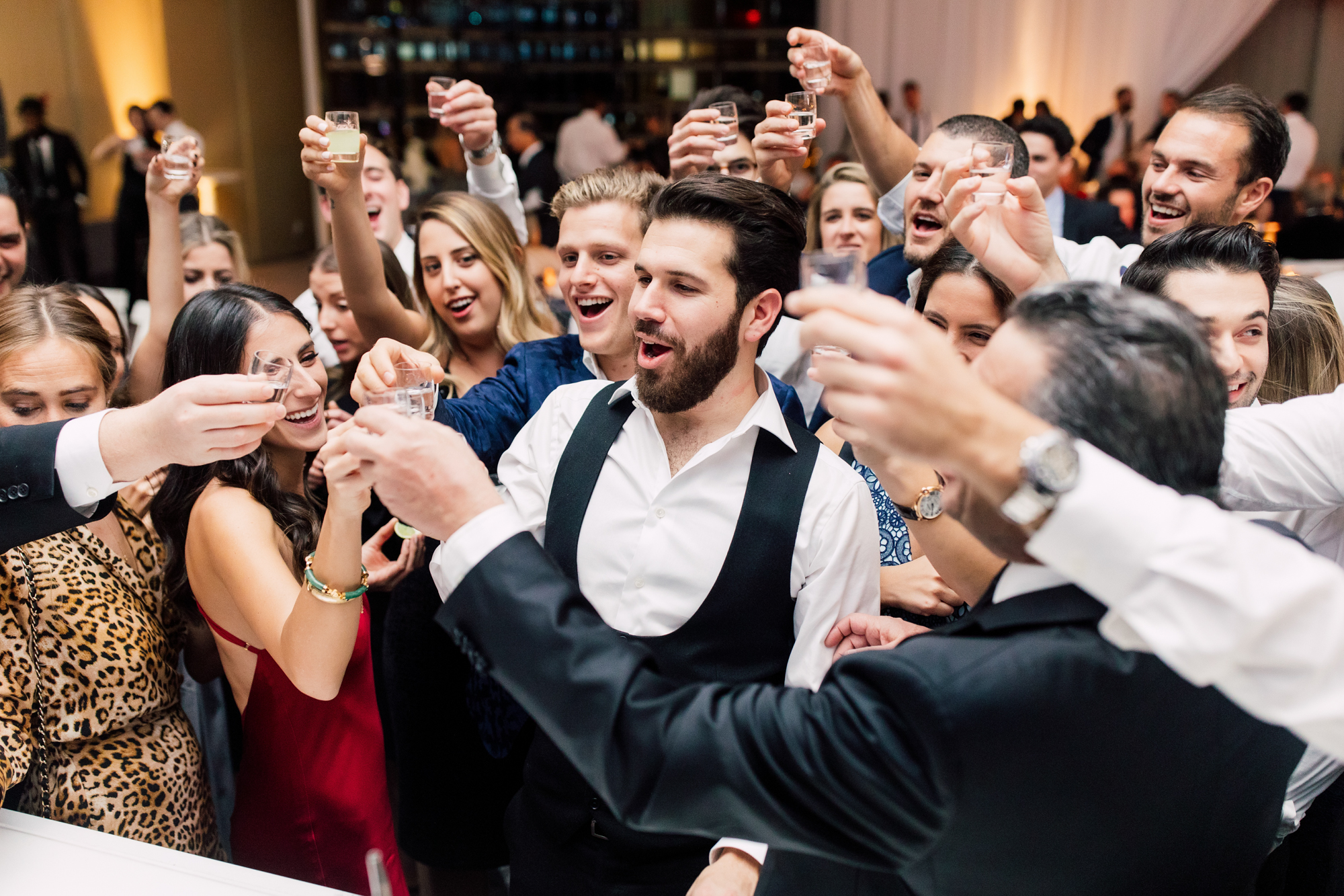 wedding reception shots