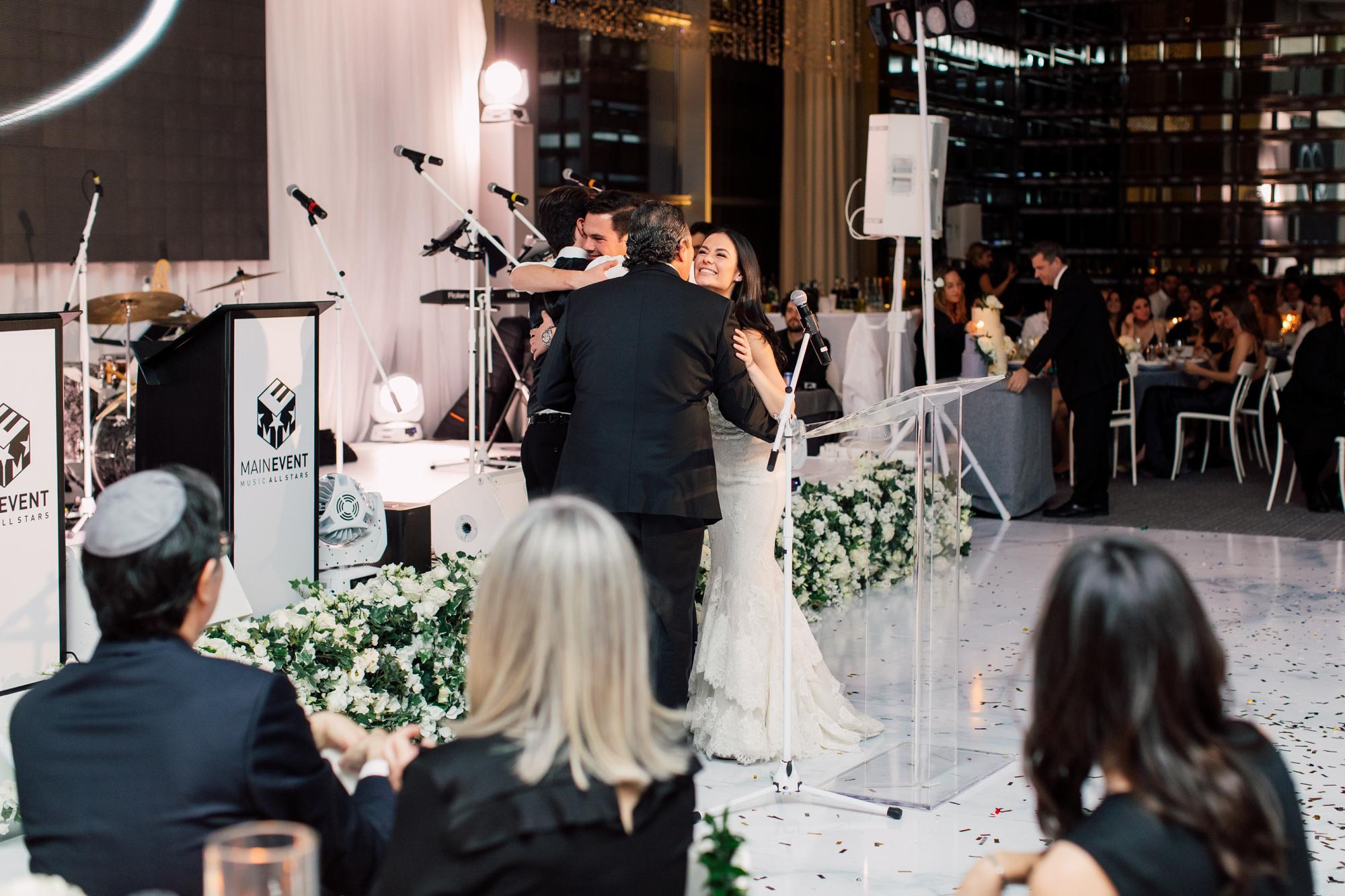 bride wedding reception