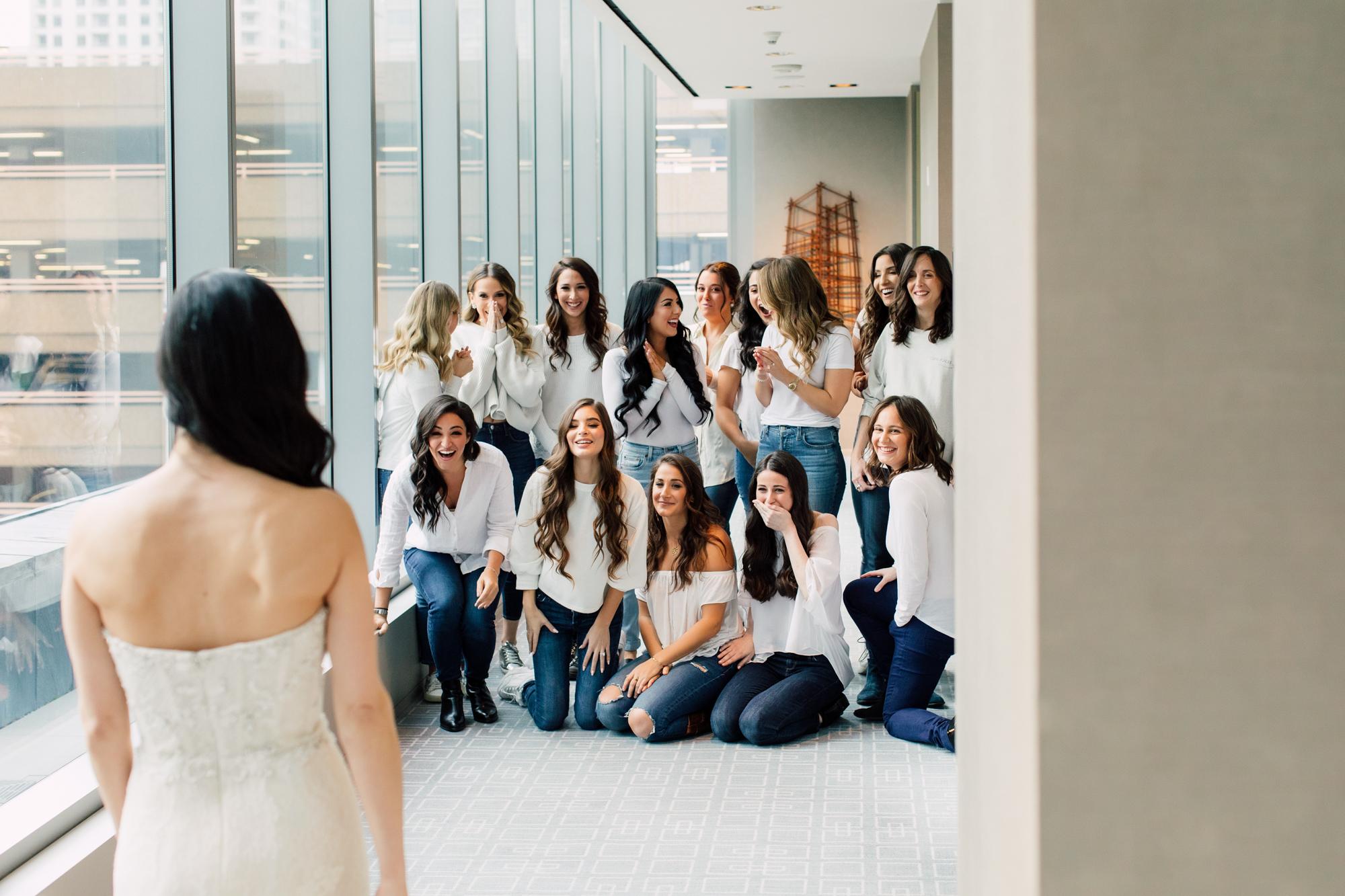 bridesmaids bridal reveal