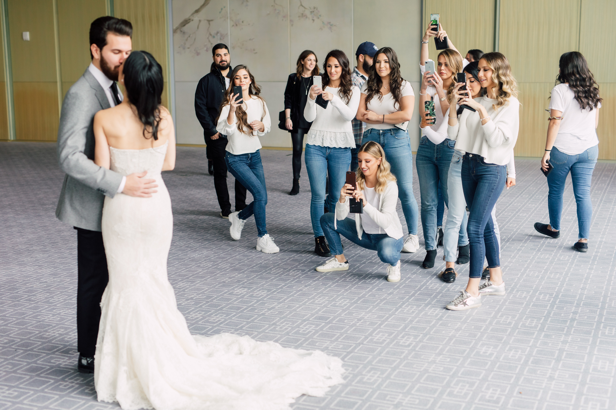 bridal party reveal