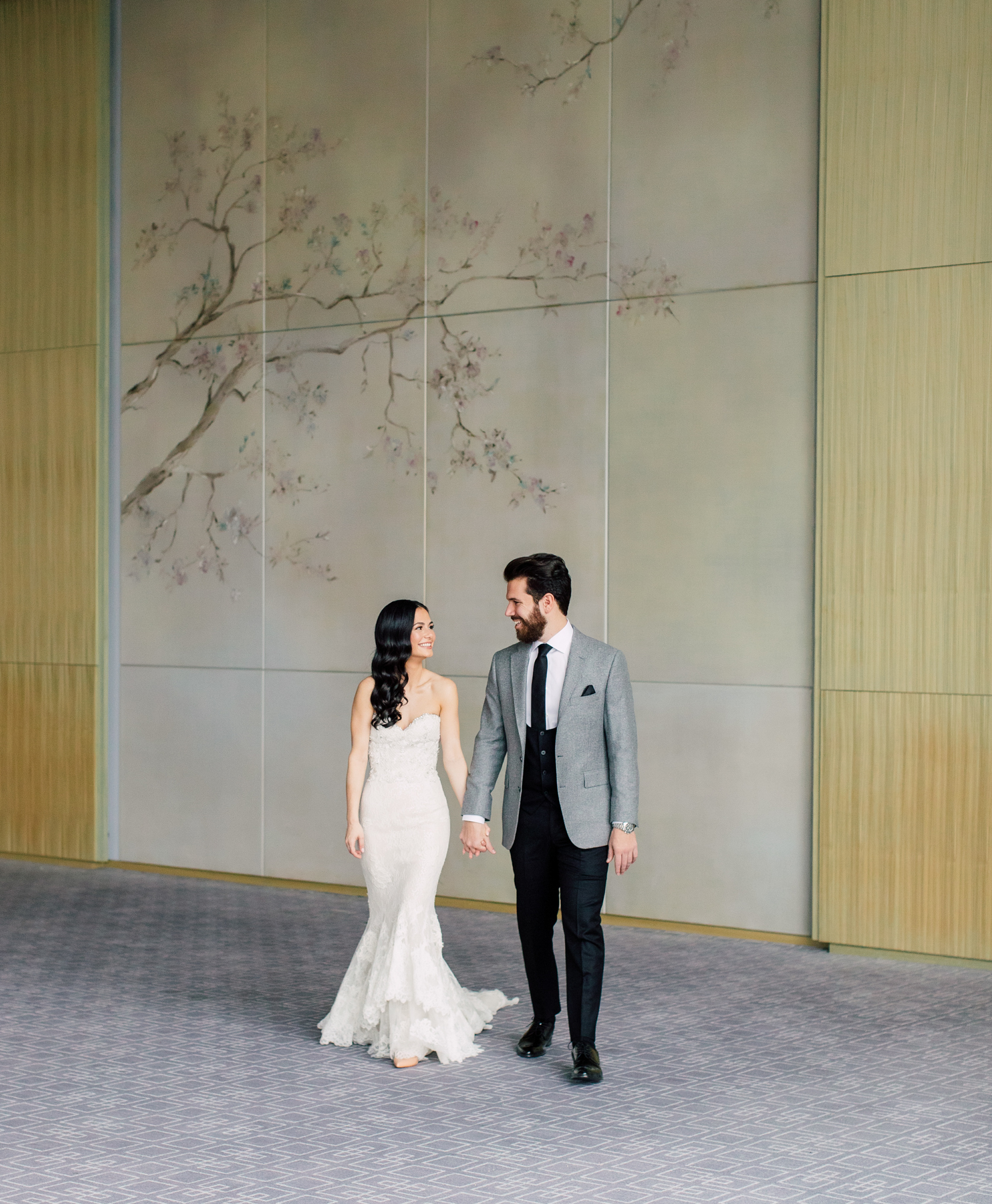 contemporary bridal portraits