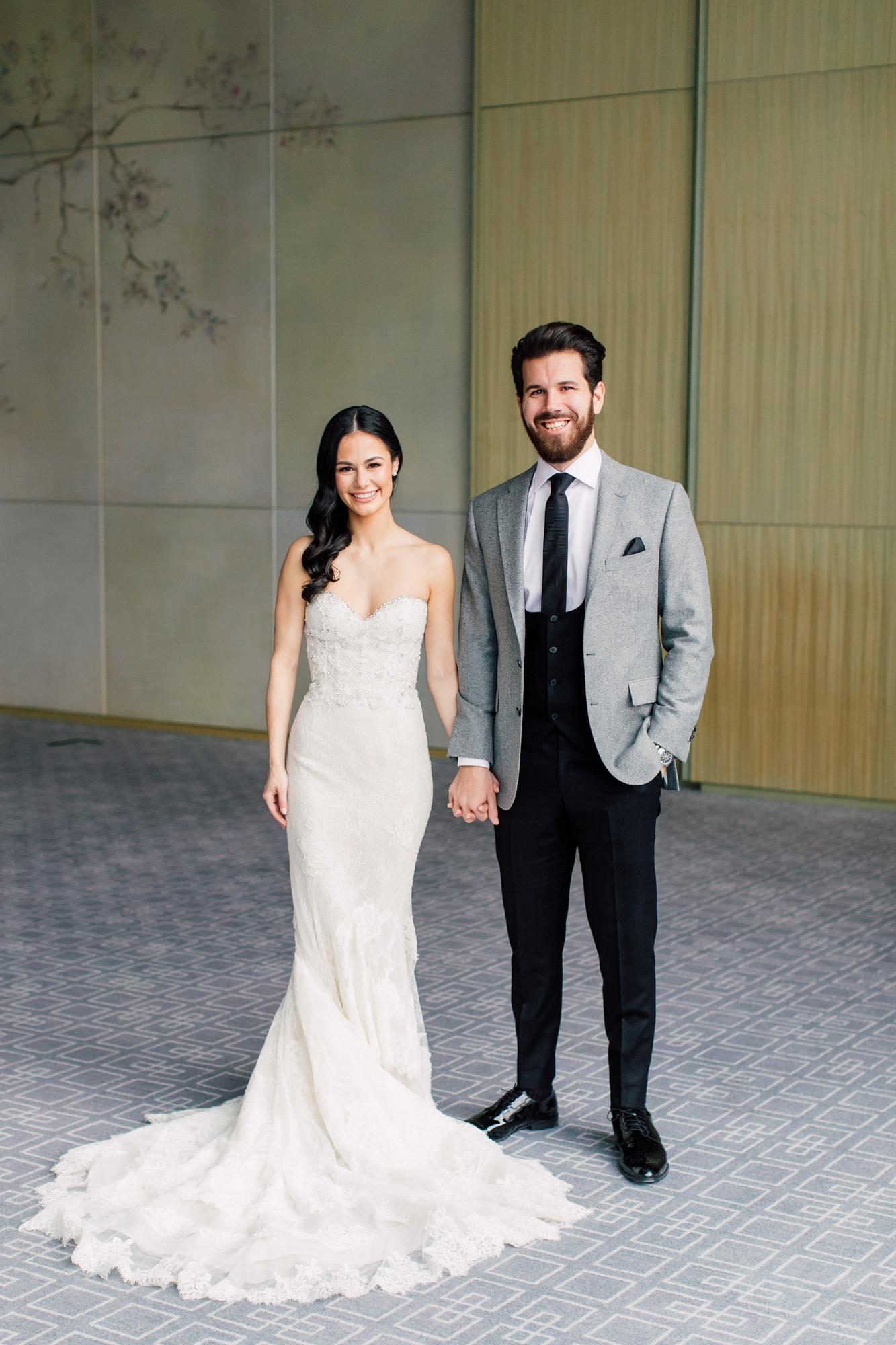 ines di santo bride and groom portrait