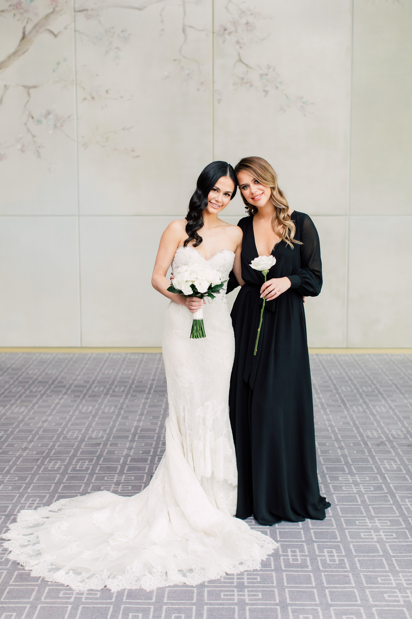 single stem bridesmaid