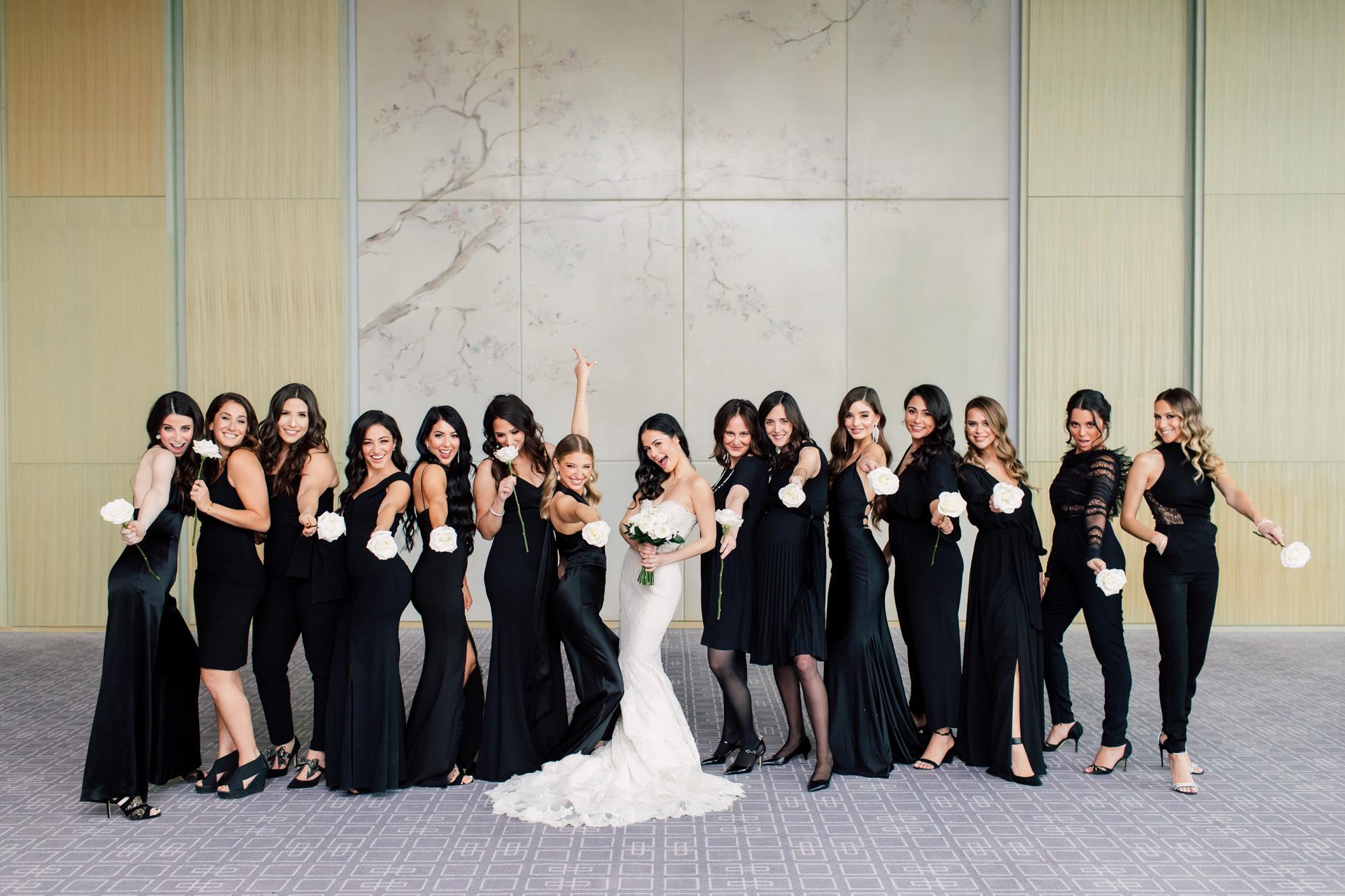 single rose bridesmaid