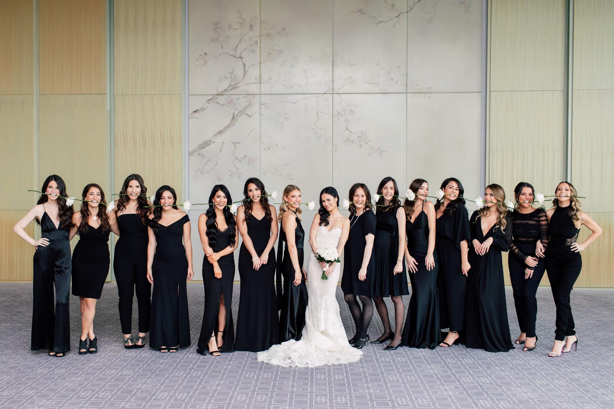 big elegant bridal party