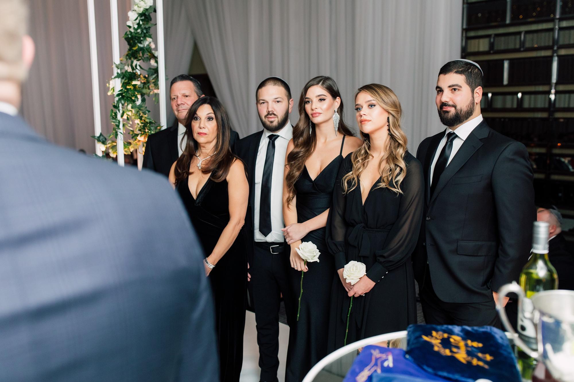 elegant wedding party