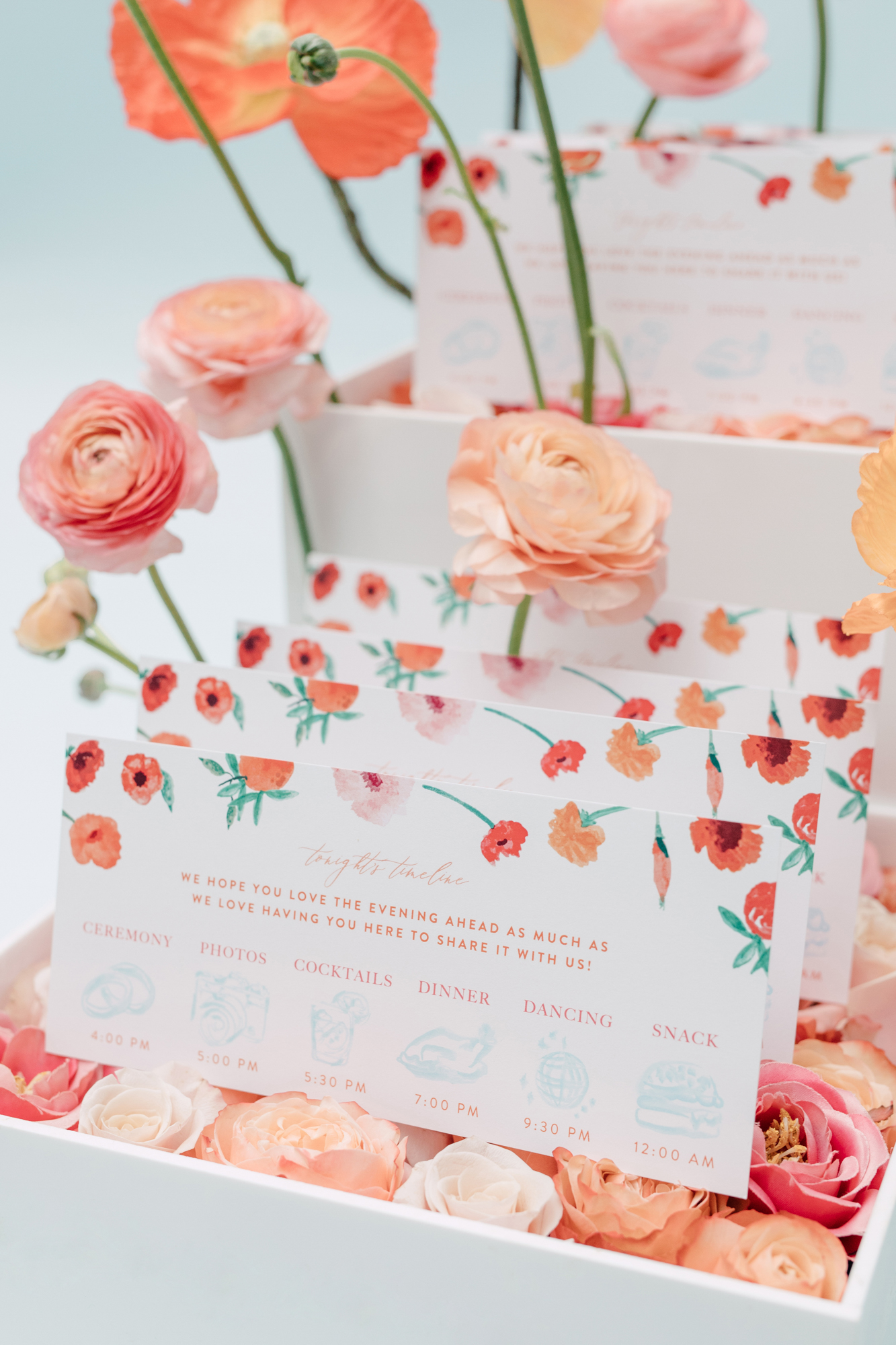 paper and poste wedding timeline