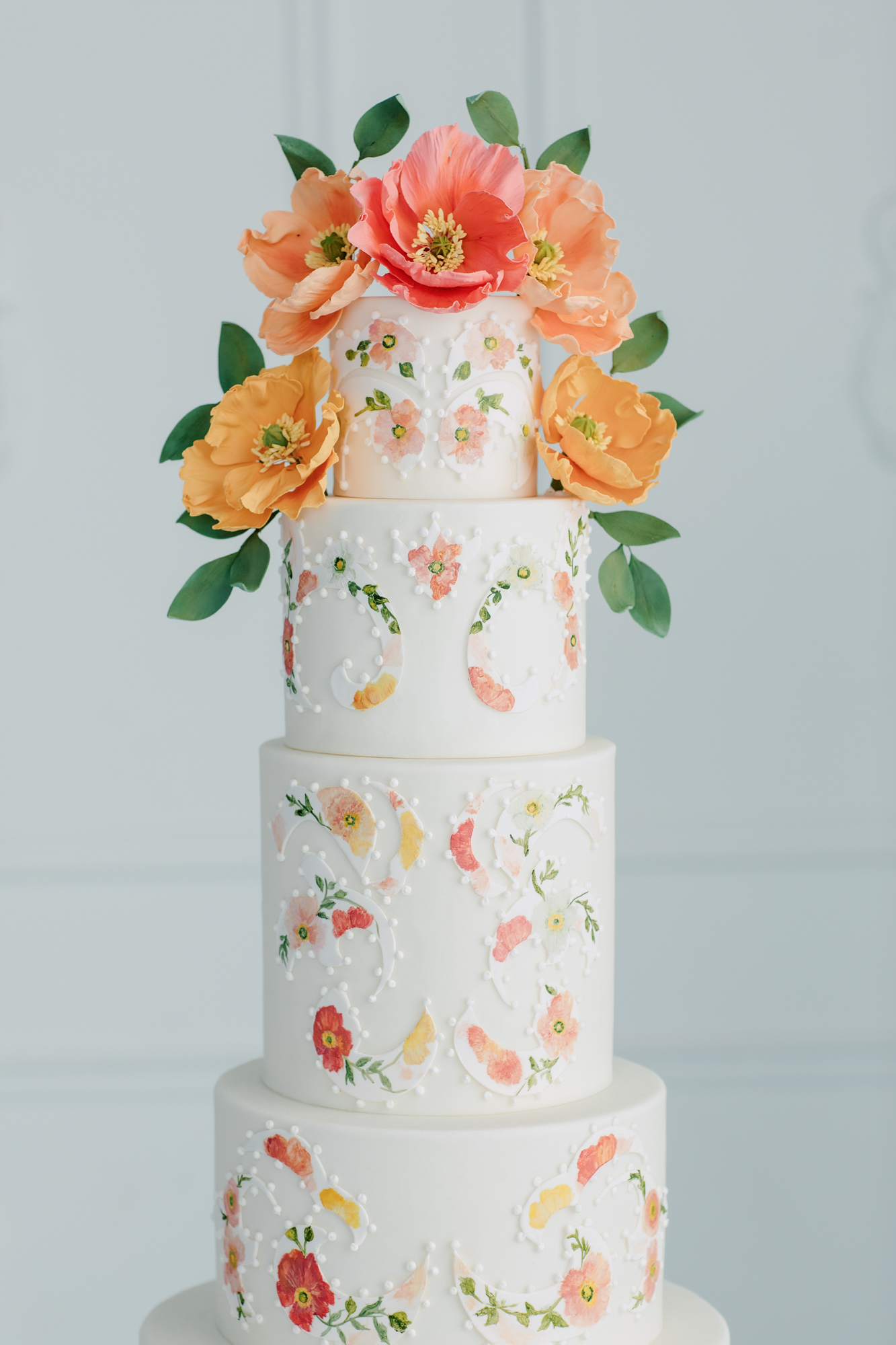 nadia and co floral wedding cake