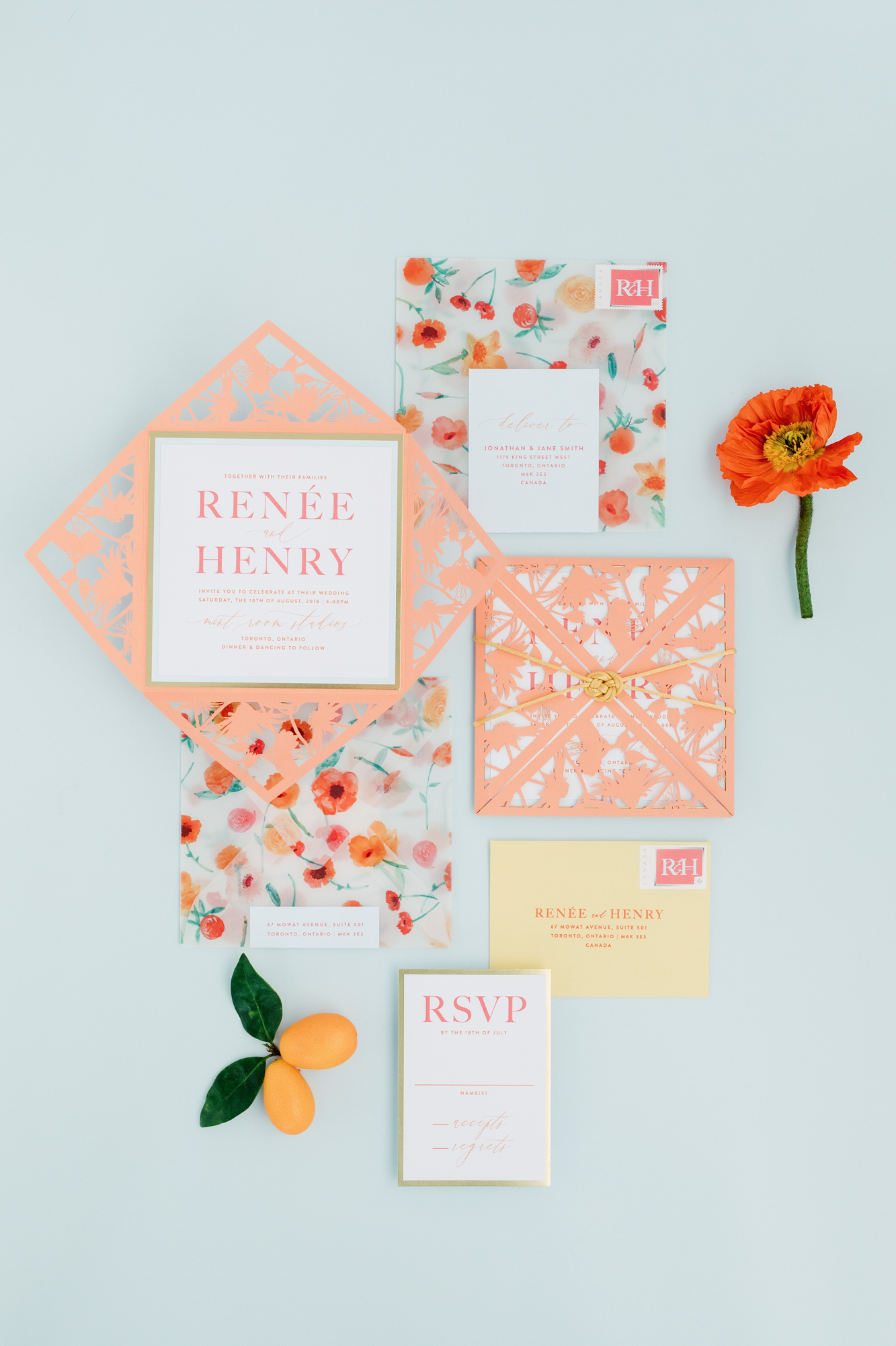 paper and poste wedding suite