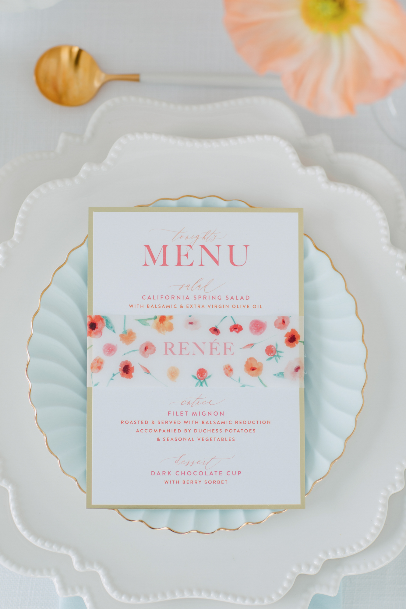 paper and poste poppy invite