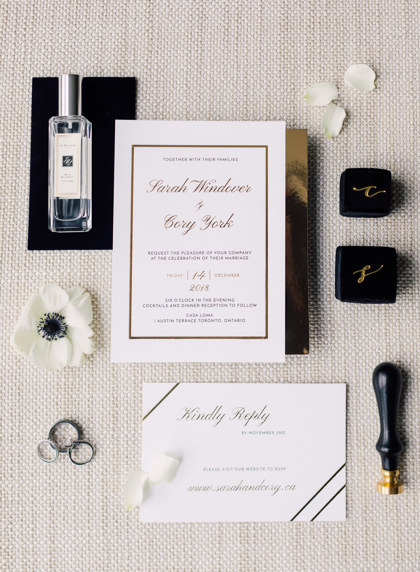 satue rue wedding stationery