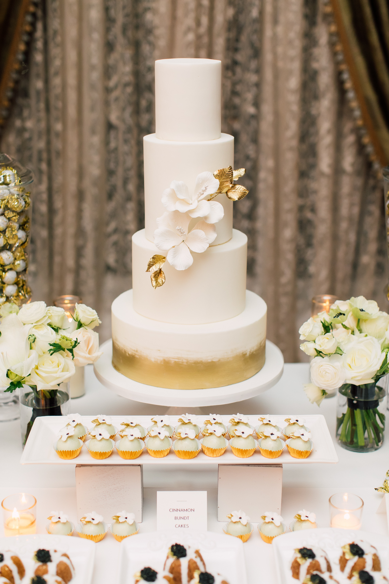 truffle cake and pastry wedding cake