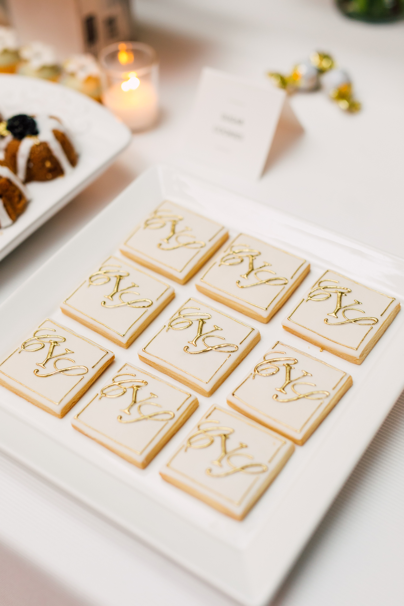 truffle cake and pastry wedding cookies