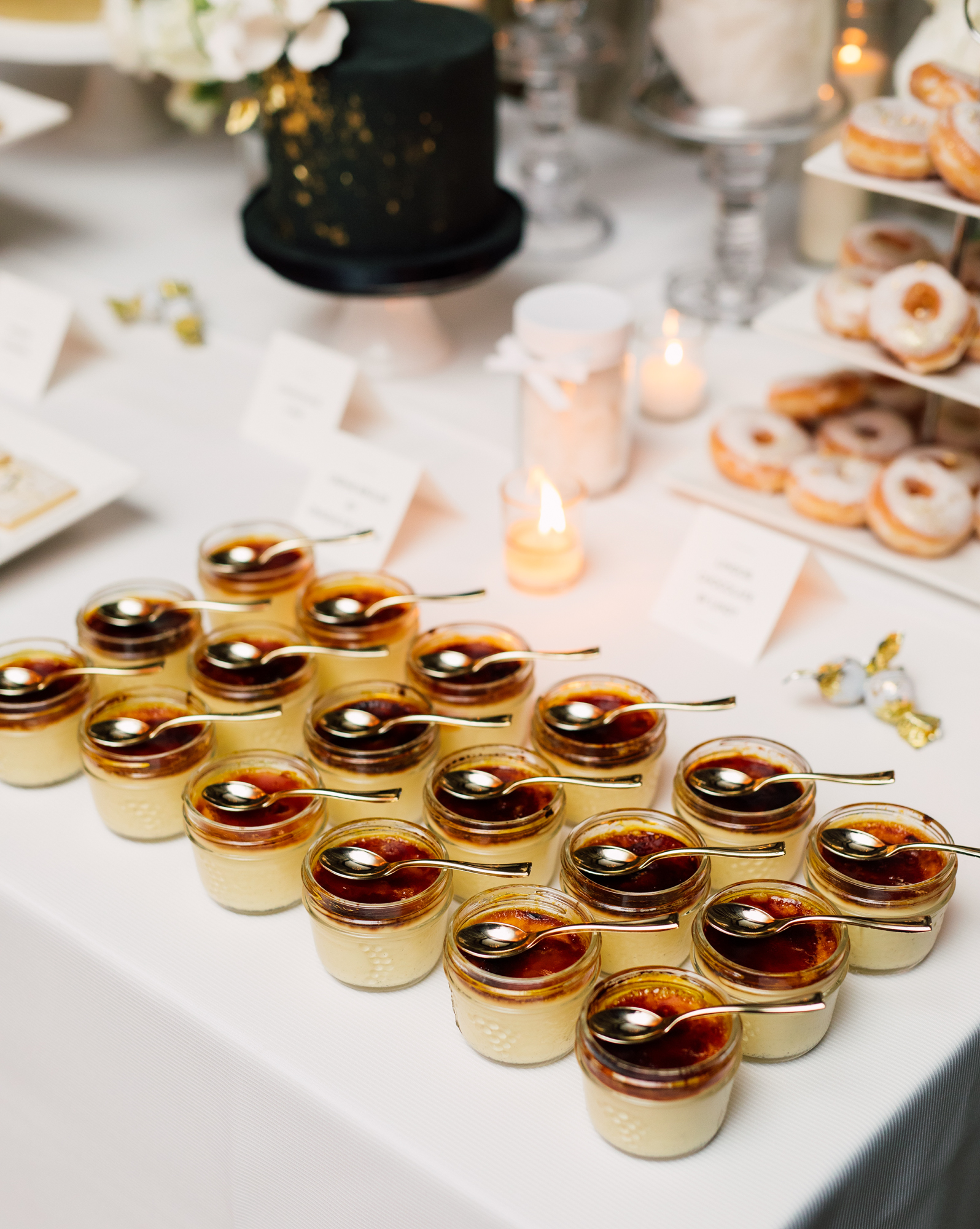 truffle cake and pastry wedding desserts