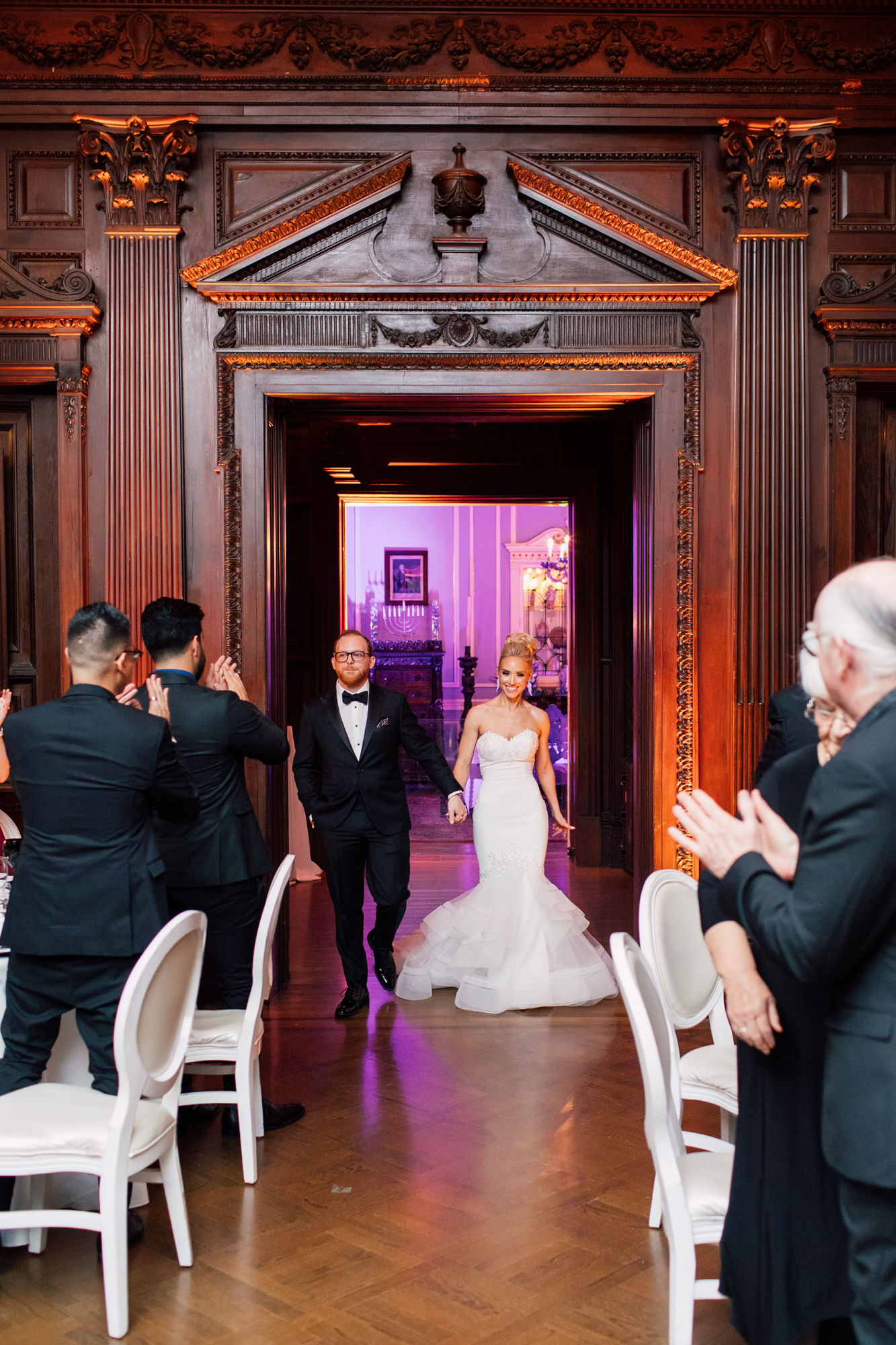 casa loma bride and groom entrance