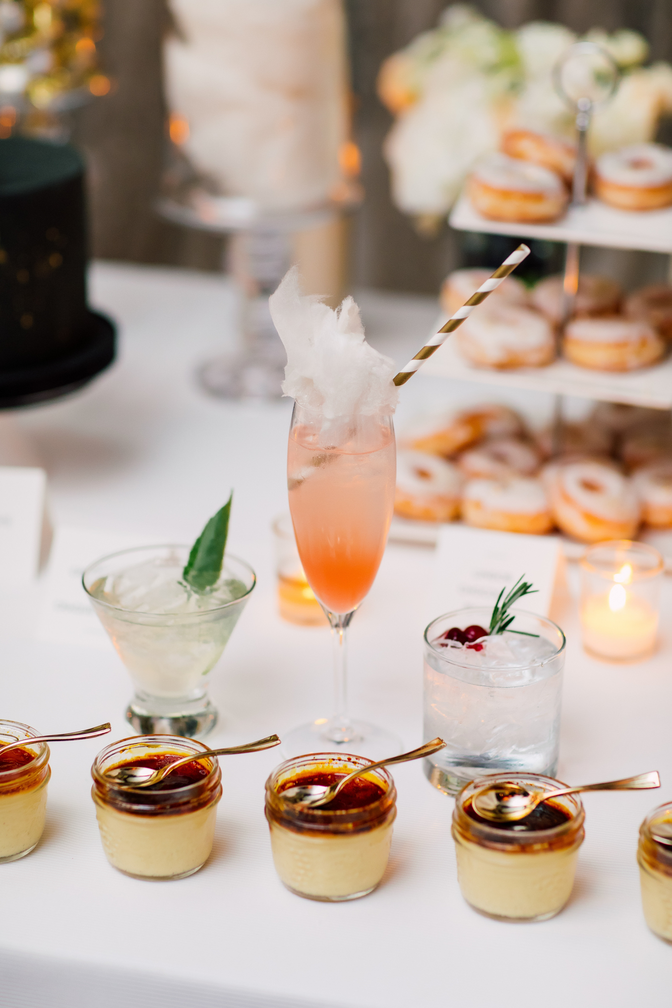 truffle cake and pastry wedding dessert
