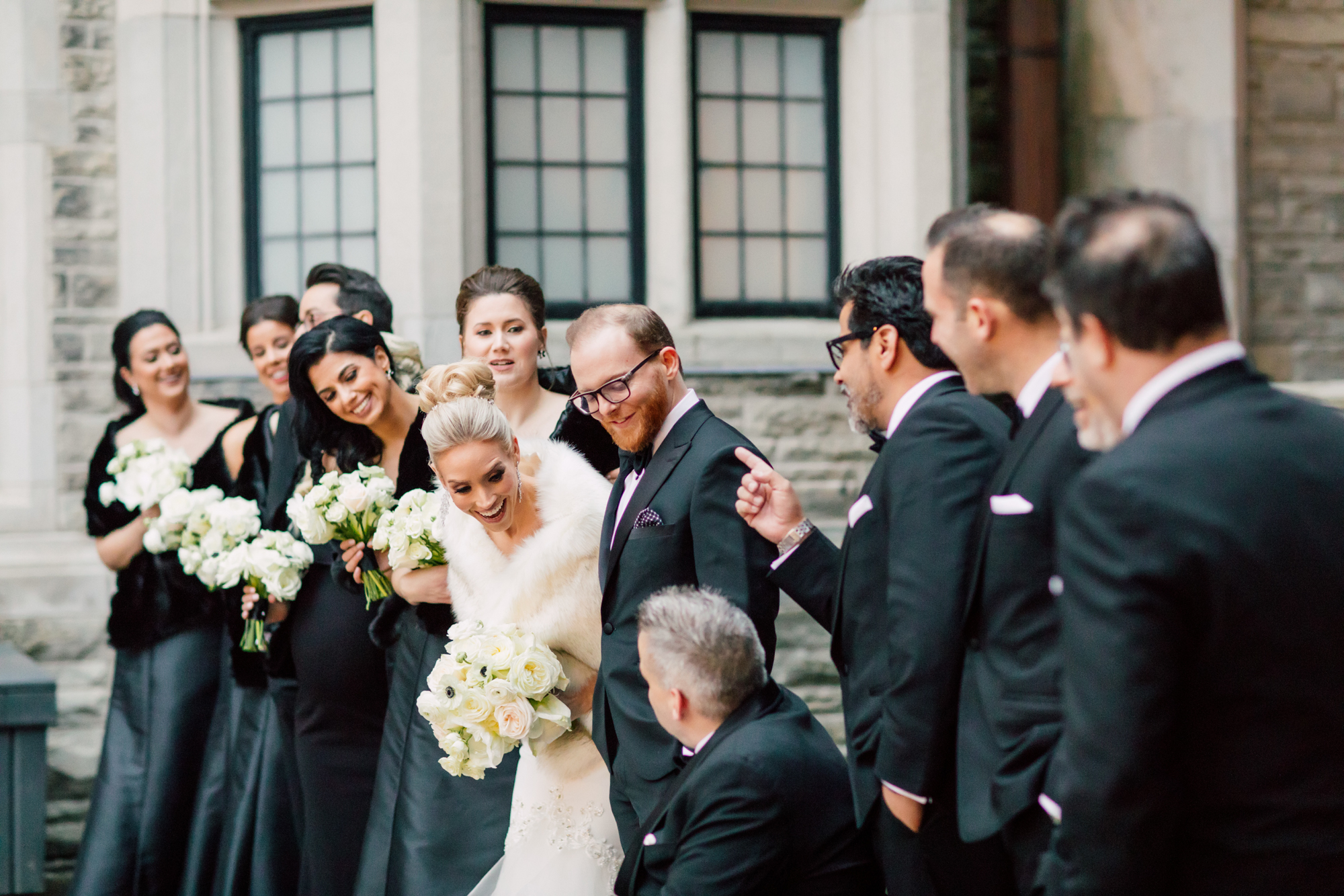 candid bridal party casa loma
