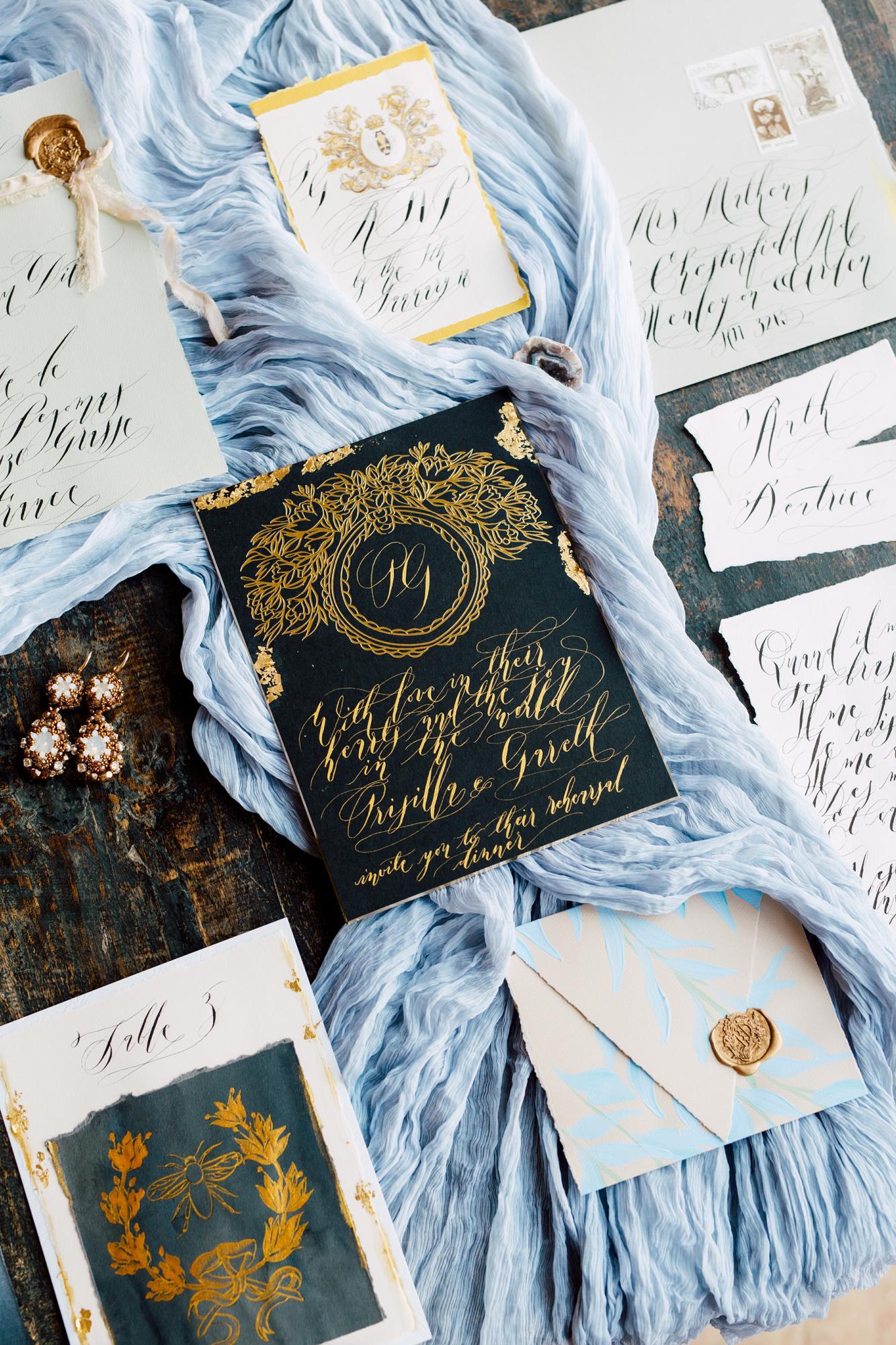 crimson letters wedding stationery