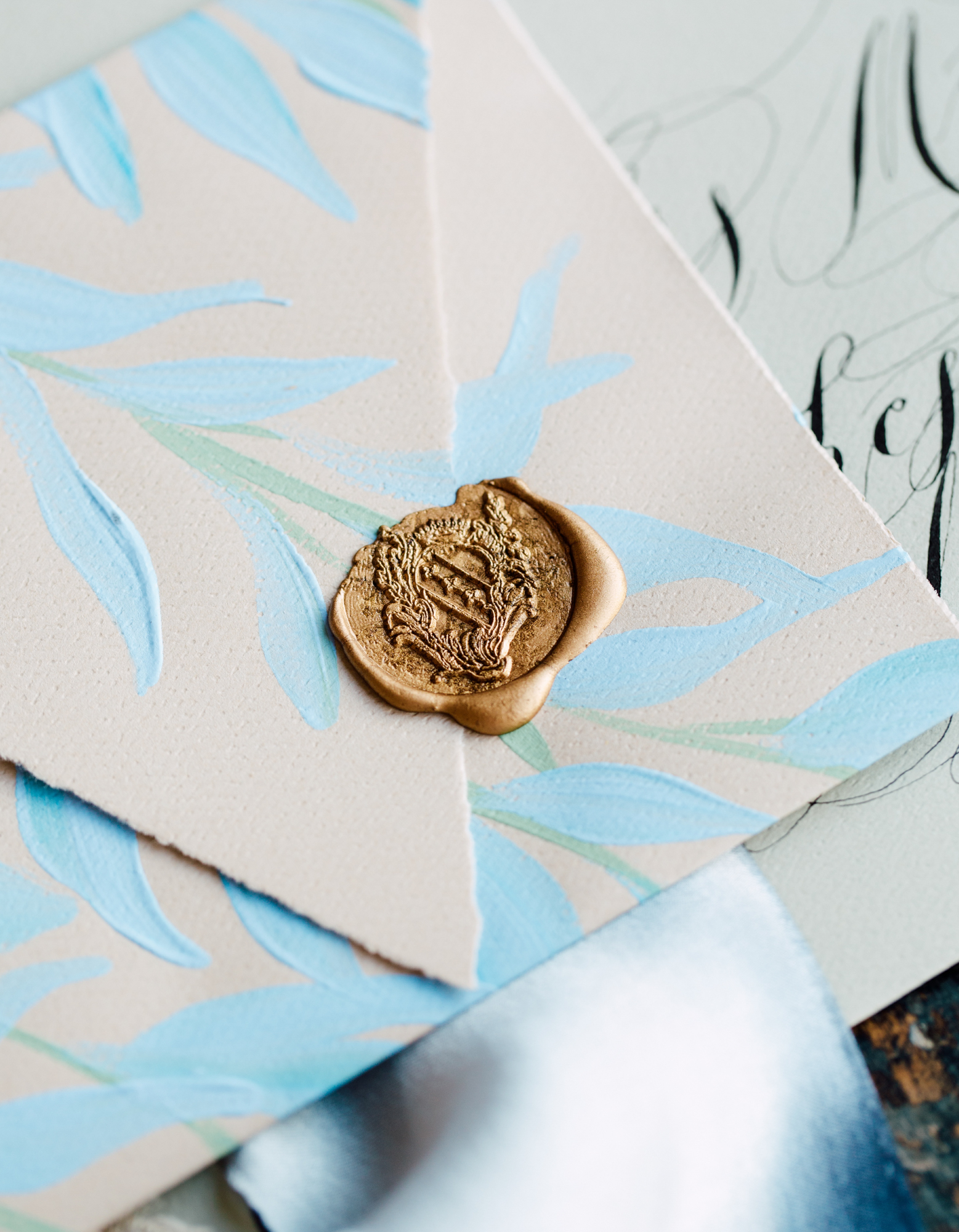 crimson letters wedding stationey